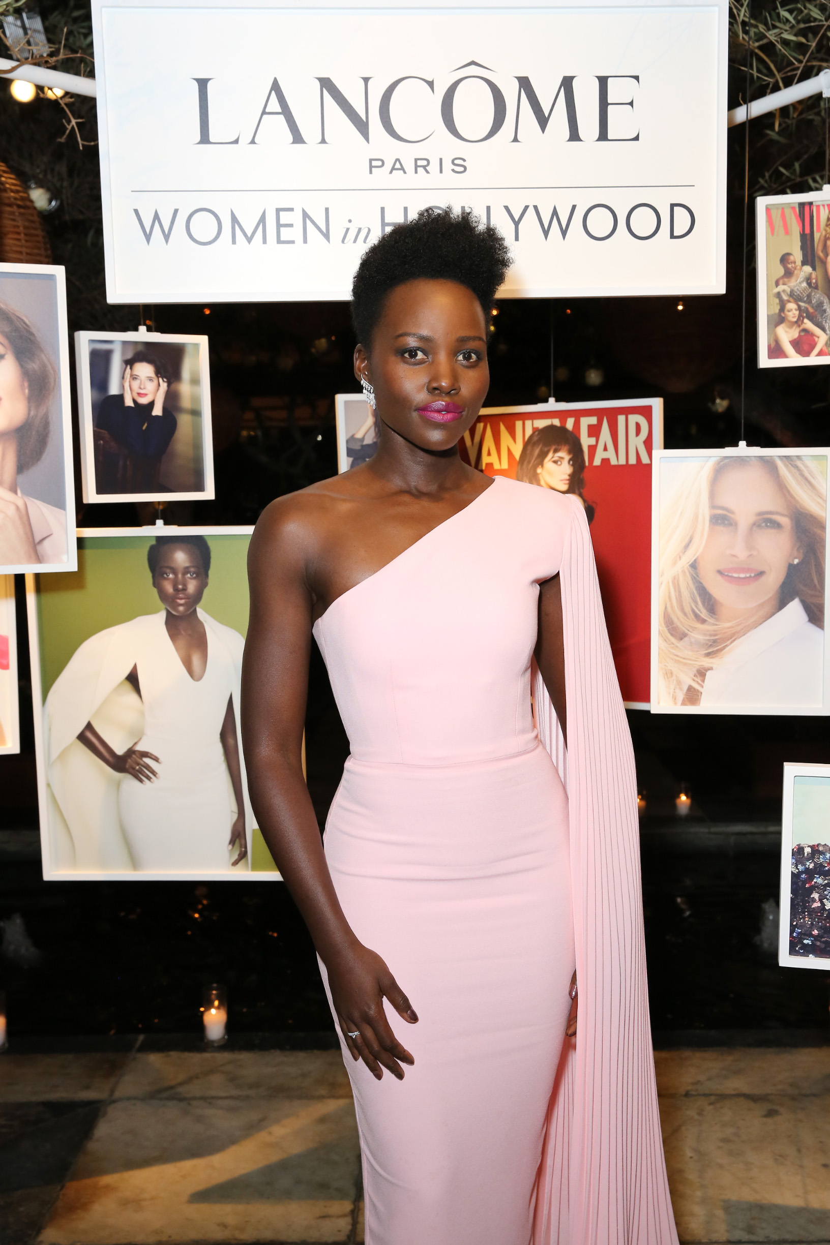 WEST HOLLYWOOD, CALIFORNIA - FEBRUARY 21: Lupita Nyong'o attends Vanity Fair and Lancôme Toast Women In Hollywood on February 21, 2019 in West Hollywood, California. (Photo by Rachel Murray/Getty Images for Vanity Fair)