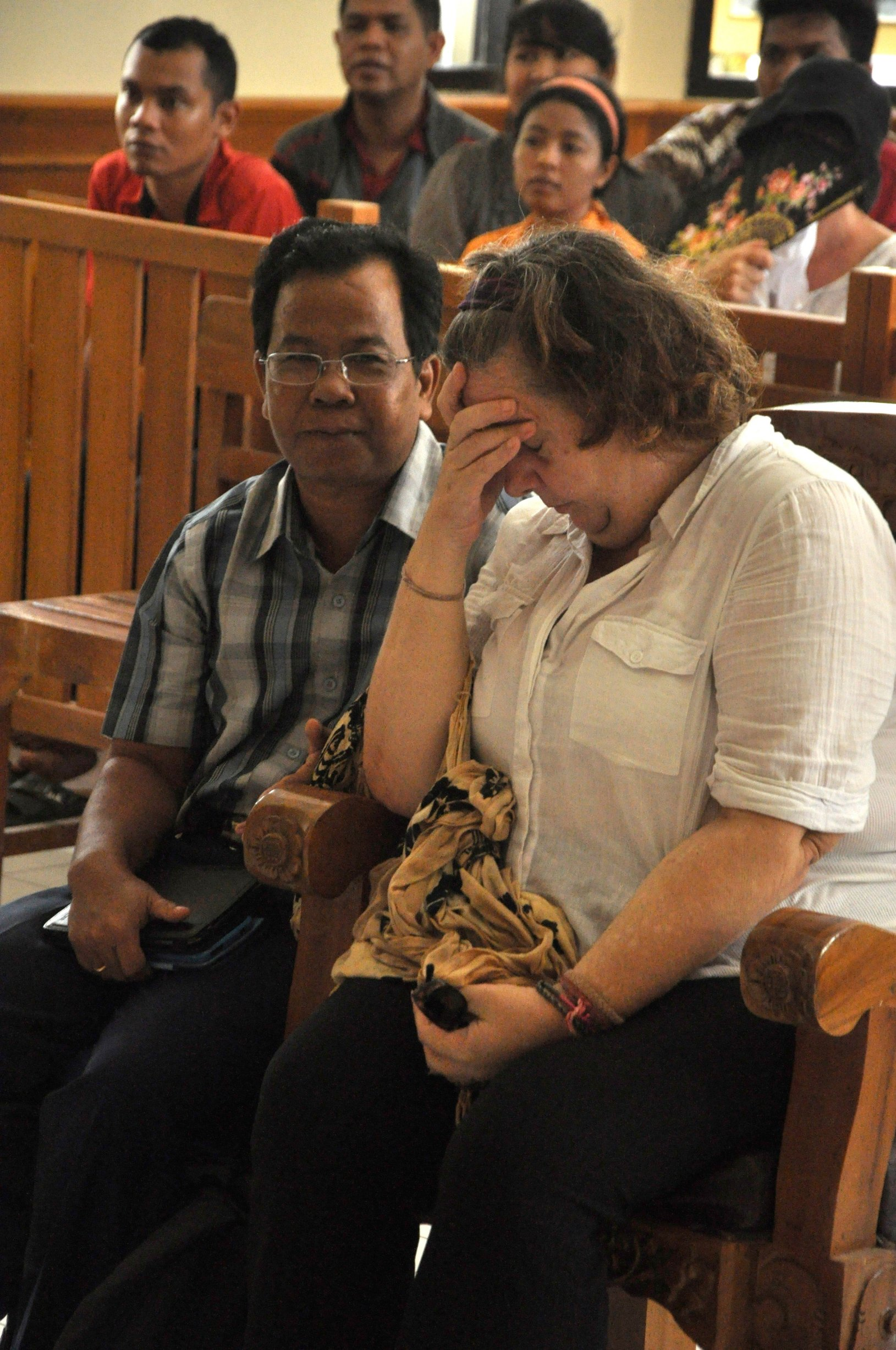 BALI, INDONESIA - JANUARY 22: Lindsay Sandiford, 56, listens to her interpreter while appearing in court for drug trafficking on January 22, 2013 in Bali, Indonesia., Image: 152039108, License: Rights-managed, Restrictions: , Model Release: no, Credit line: Profimedia, Barcroft Media