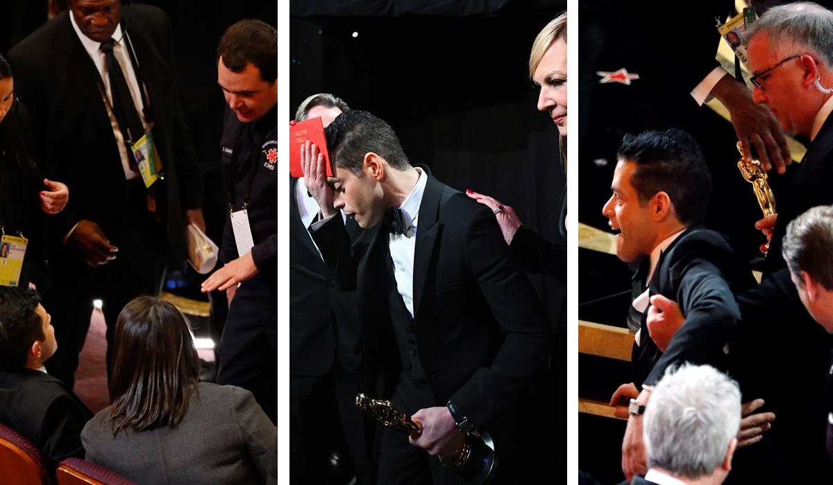 Rami Malek na dodjeli Oscara pao s pozornice u prvi red gledališta