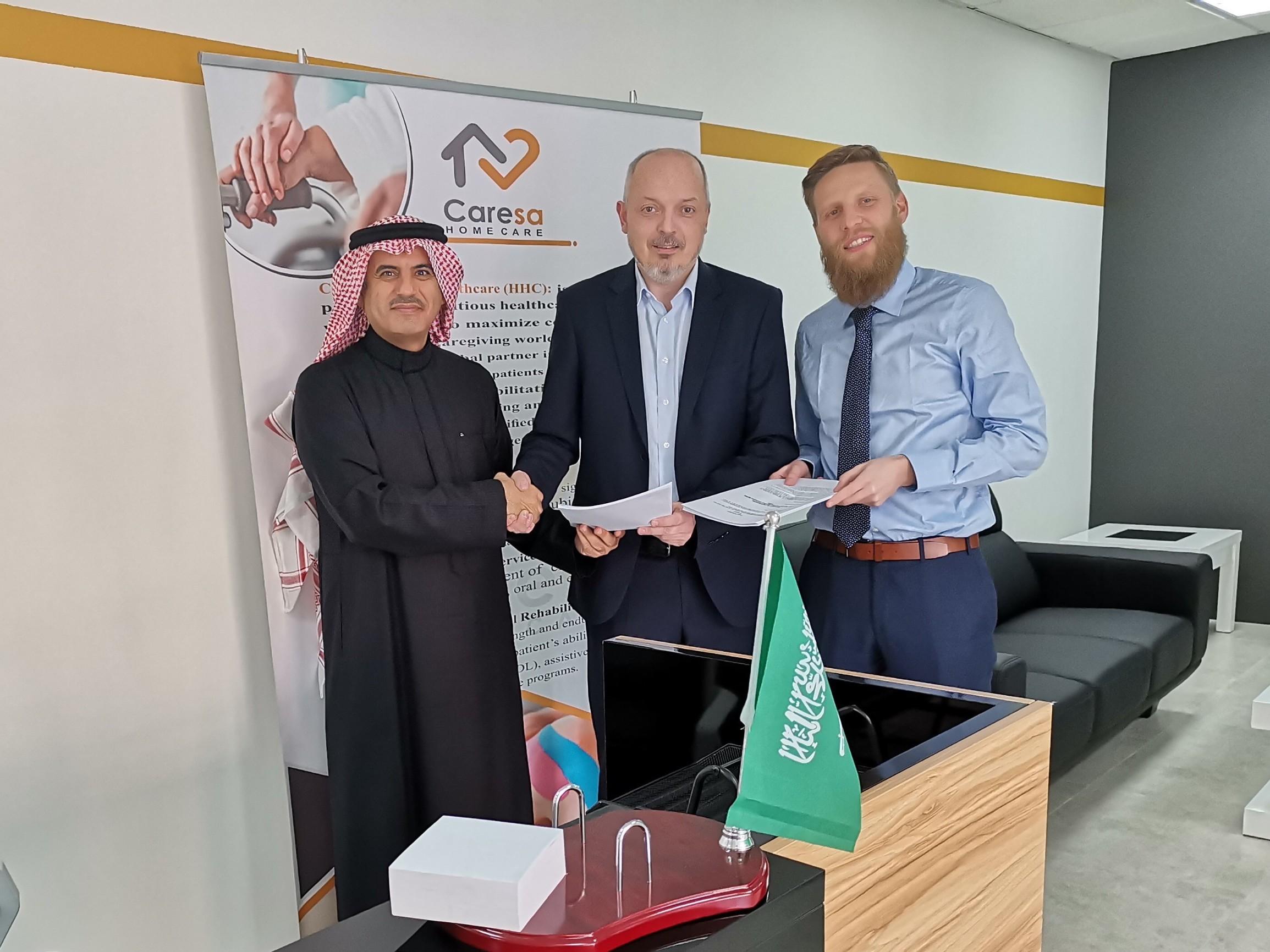 Mohammad A. Al Sager, predsjednik Uprave tvrtke Hosna Medical Care;Siniša Košćina, direktor razvoja poslovanja u Sektoru zdravstva, IN2 te Lieven Baten iz tvrtke Acalis