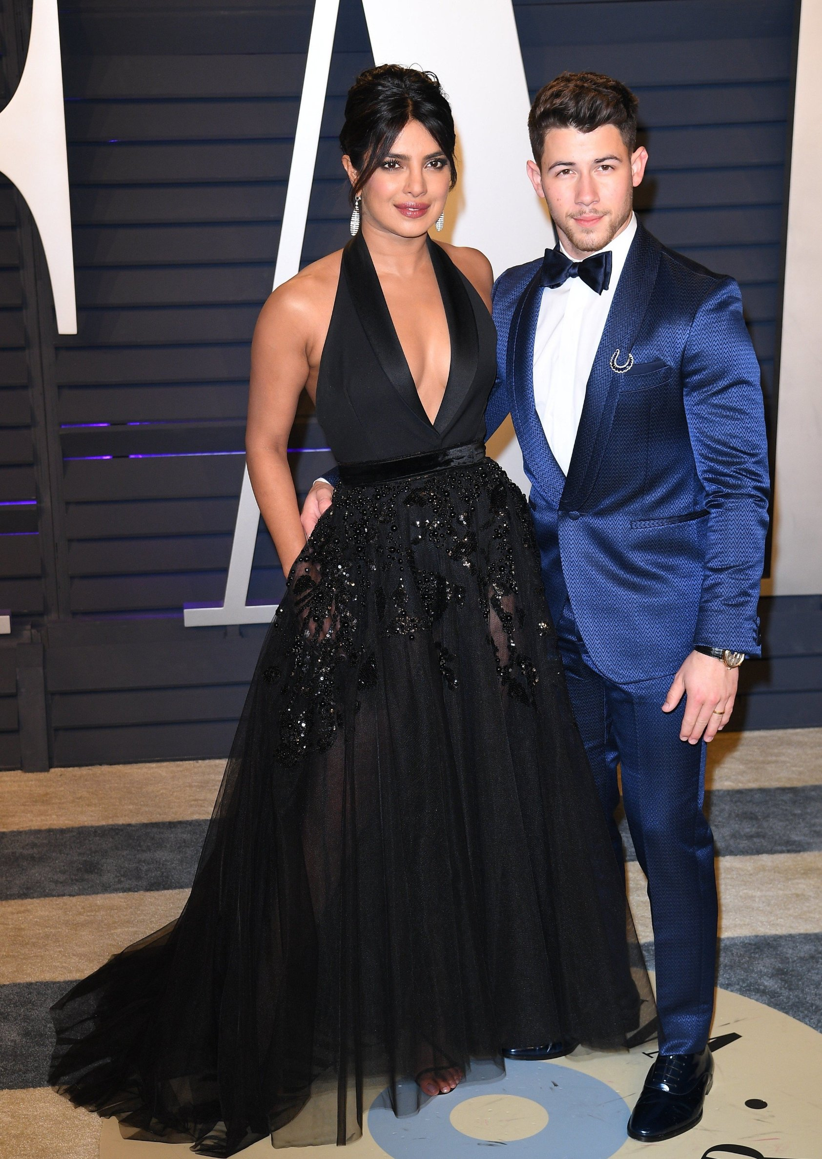 Nick Jonas and Priyanka Chopra attending the 2019 Vanity Fair Oscar Party hosted by editor Radhika Jones held at the Wallis Annenberg Center for the Performing Arts on February 24, 2019 in Los Angeles, CA, USA., Image: 415794317, License: Rights-managed, Restrictions: , Model Release: no, Credit line: Profimedia, Abaca Press