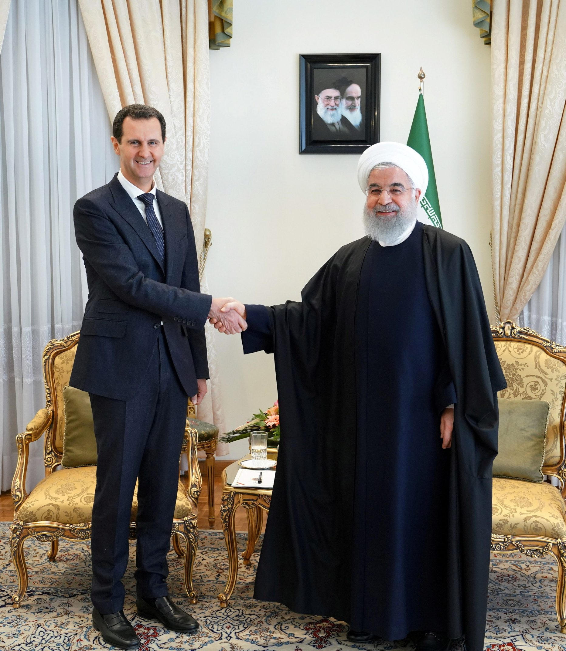 Bašar al-Asad i Hasan Rohani