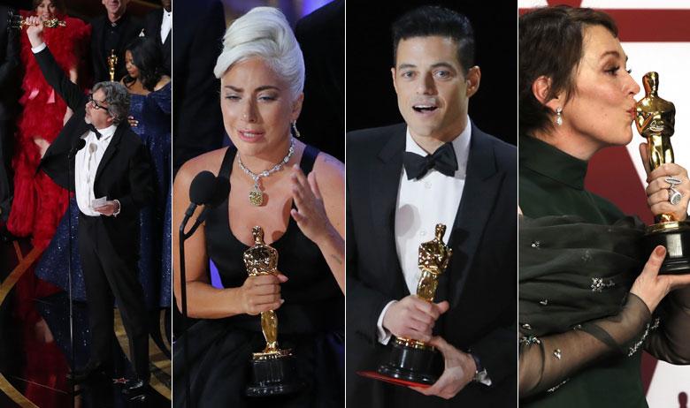 Peter Farrelly, Lady Gaga, Rami Malek, Olivia Colman