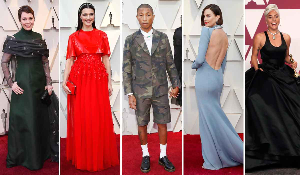 Olivia Colman, Rachel Weisz, Pharrell Williams, Charlize Theron, Lady Gaga