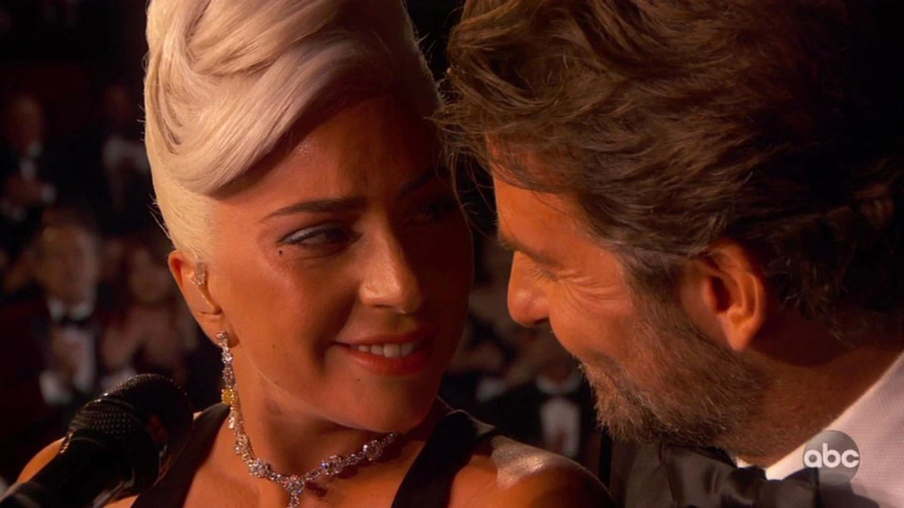 BGUK_1498052 - ** RIGHTS: WORLDWIDE EXCEPT IN UNITED STATES ** Los Angeles, CA  - Lady Gaga and Bradley Cooper perform emotional version of Shallow at the Oscars. Lady Gaga and Bradley Cooper dove into their first televised performance of Shallow at the 91st Academy Awards. The duo - both nominated as lead actors for their work in A Star Is Born - began the performance from their front-row seats in the audience, with Cooper (also the film's director) leading Gaga to the Dolby Theatre stage by the hand. They then launched into an emotional rendition of the film's signature hit, staring into each other's eyes from across a brown piano for most of the song until Cooper joined Gaga atop the piano bench for an intensely charged embrace to close out the number. A nine-time Grammy winner, Gaga additionally received the second and third Oscar nominations of her career for her contributions to A Star Is Born: one for Best Actress and the other for co-writing Shallow with Mark Ronson, Miike Snow's Andrew Wyatt, and Anthony Rossomando.  *BACKGRID DOES NOT CLAIM ANY COPYRIGHT OR LICENSE IN THE ATTACHED MATERIAL. ANY DOWNLOADING FEES CHARGED BY BACKGRID ARE FOR BACKGRID'S SERVICES ONLY, AND DO NOT, NOR ARE THEY INTENDED TO, CONVEY TO THE USER ANY COPYRIGHT OR LICENSE IN THE MATERIAL. BY PUBLISHING THIS MATERIAL , THE USER EXPRESSLY AGREES TO INDEMNIFY AND TO HOLD BACKGRID HARMLESS FROM ANY CLAIMS, DEMANDS, OR CAUSES OF ACTION ARISING OUT OF OR CONNECTED IN ANY WAY WITH USER'S PUBLICATION OF THE MATERIAL*  Pictured: Lady Gaga, Bradley Cooper  BACKGRID UK 24 FEBRUARY 2019, Image: 415753874, License: Rights-managed, Restrictions: , Model Release: no, Credit line: Profimedia, Backgrid UK