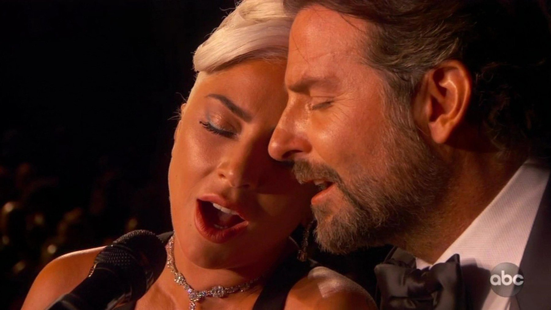 BGUK_1498052 - ** RIGHTS: WORLDWIDE EXCEPT IN UNITED STATES ** Los Angeles, CA  - Lady Gaga and Bradley Cooper perform emotional version of Shallow at the Oscars. Lady Gaga and Bradley Cooper dove into their first televised performance of Shallow at the 91st Academy Awards. The duo - both nominated as lead actors for their work in A Star Is Born - began the performance from their front-row seats in the audience, with Cooper (also the film's director) leading Gaga to the Dolby Theatre stage by the hand. They then launched into an emotional rendition of the film's signature hit, staring into each other's eyes from across a brown piano for most of the song until Cooper joined Gaga atop the piano bench for an intensely charged embrace to close out the number. A nine-time Grammy winner, Gaga additionally received the second and third Oscar nominations of her career for her contributions to A Star Is Born: one for Best Actress and the other for co-writing Shallow with Mark Ronson, Miike Snow's Andrew Wyatt, and Anthony Rossomando.  *BACKGRID DOES NOT CLAIM ANY COPYRIGHT OR LICENSE IN THE ATTACHED MATERIAL. ANY DOWNLOADING FEES CHARGED BY BACKGRID ARE FOR BACKGRID'S SERVICES ONLY, AND DO NOT, NOR ARE THEY INTENDED TO, CONVEY TO THE USER ANY COPYRIGHT OR LICENSE IN THE MATERIAL. BY PUBLISHING THIS MATERIAL , THE USER EXPRESSLY AGREES TO INDEMNIFY AND TO HOLD BACKGRID HARMLESS FROM ANY CLAIMS, DEMANDS, OR CAUSES OF ACTION ARISING OUT OF OR CONNECTED IN ANY WAY WITH USER'S PUBLICATION OF THE MATERIAL*  Pictured: Lady Gaga, Bradley Cooper  BACKGRID UK 24 FEBRUARY 2019, Image: 415753885, License: Rights-managed, Restrictions: , Model Release: no, Credit line: Profimedia, Backgrid UK