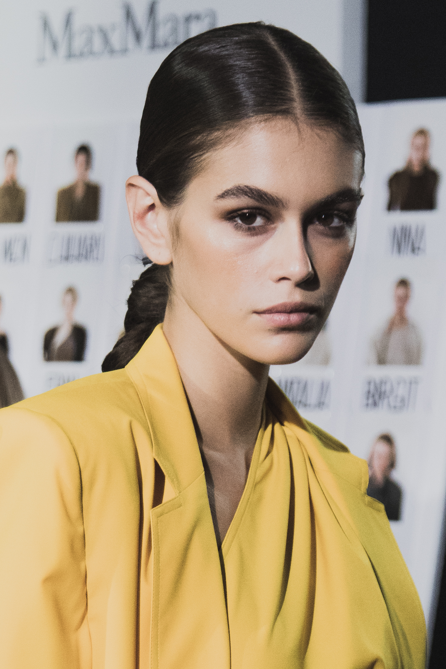 MILAN, ITALY - SEPTEMBER 20:  (EDITORS NOTE: This image was processed using digital filters) Kaia Gerber is seen backstage ahead of the Max Mara show during Milan Fashion Week Spring/Summer 2019 on September 20, 2018 in Milan, Italy.  (Photo by Vittorio Zunino Celotto/Getty Images)