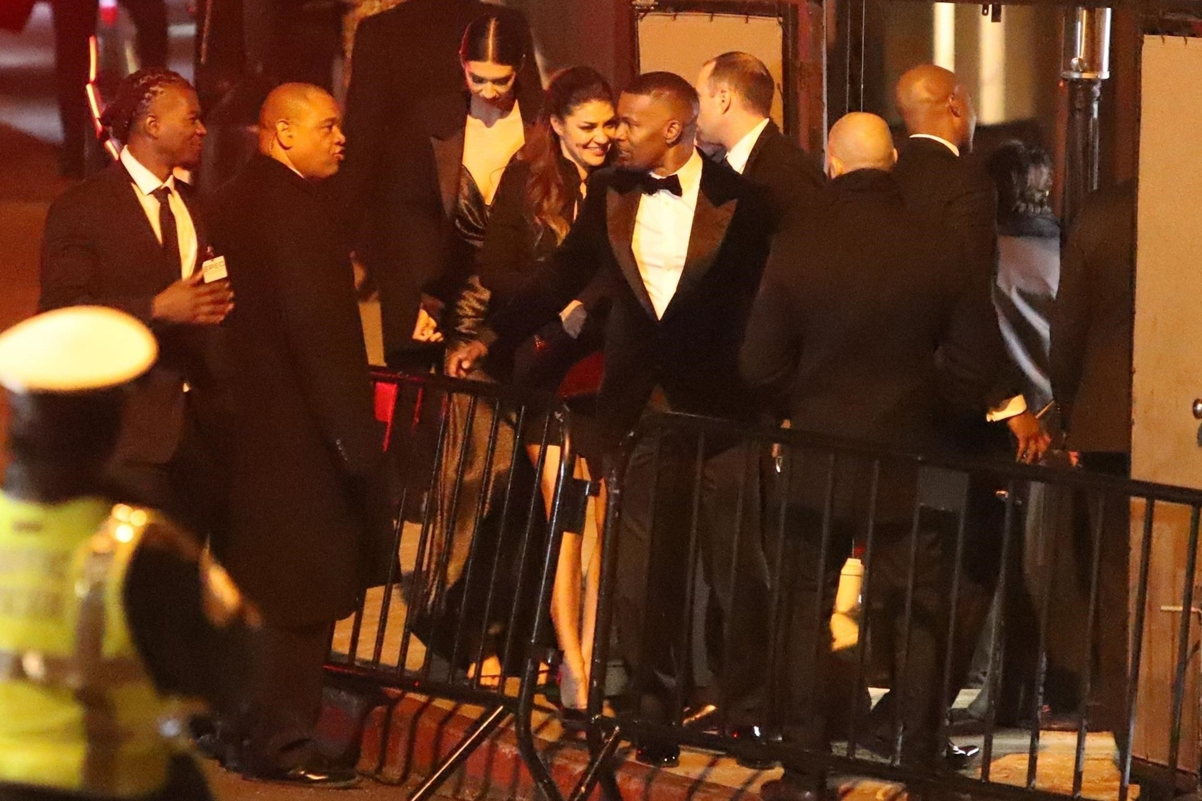 West Hollywood, CA  - *EXCLUSIVE*  - Jamie Foxx attends Jay Z and Beyonce's party at Chateau Marmont in West Hollywood. The actor was seen arriving with two attractive brunettes but no sign of girlfriend Katie Holmes.  Pictured: Jamie Foxx     *UK Clients - Pictures Containing Children Please Pixelate Face Prior To Publication*, Image: 415891413, License: Rights-managed, Restrictions: , Model Release: no, Credit line: Profimedia, Backgrid USA