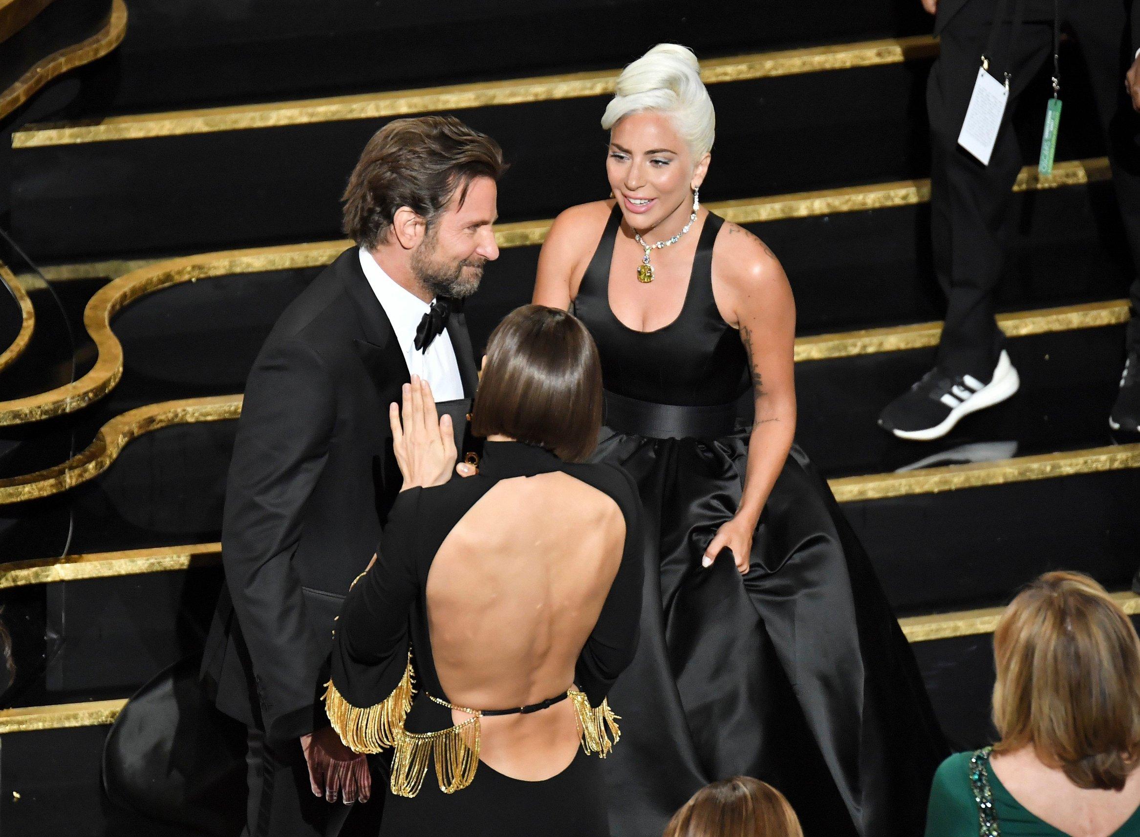 Bradley Cooper, Irina Shayk i Lady Gaga