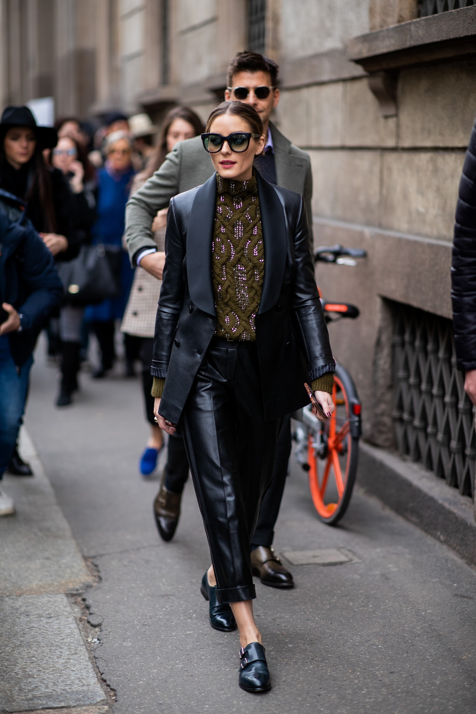 MILAN, ITALY - FEBRUARY 23: Olivia Palermo attends the Ermanno Scervino show at Milan Fashion Week Autumn/Winter 2019/20 on February 23, 2019 in Milan, Italy.  (Photo by Christian Vierig/Getty Images for Ermanno Scervino)