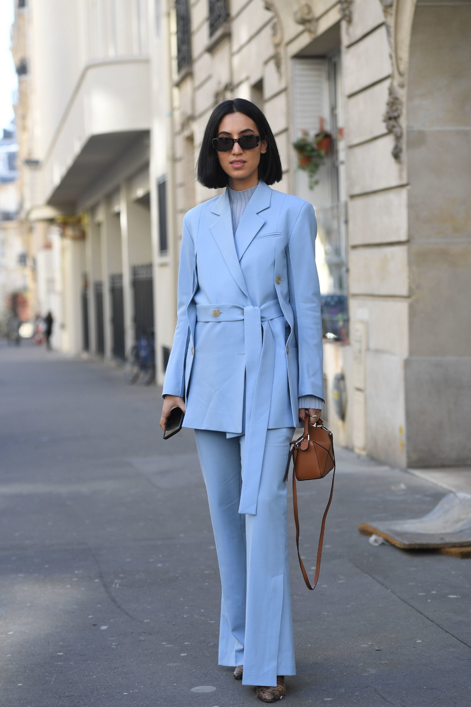 Street Style Street Style, Fall Winter 2019, Paris Fashion Week, France - 26 Feb 2019, Image: 416174090, License: Rights-managed, Restrictions: , Model Release: no, Credit line: Profimedia, TEMP Rex Features