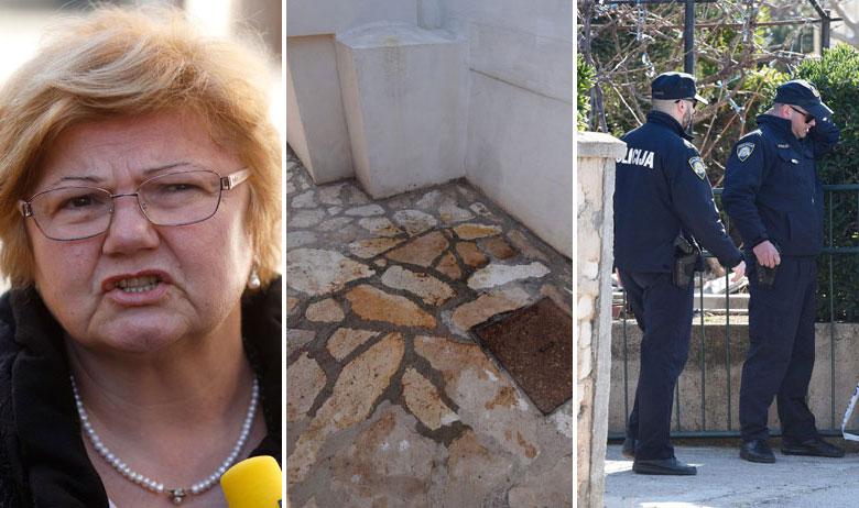 Ministrica Murganić, detalj iz kuće u kojoj se dogodio zločin i policija na Pagu