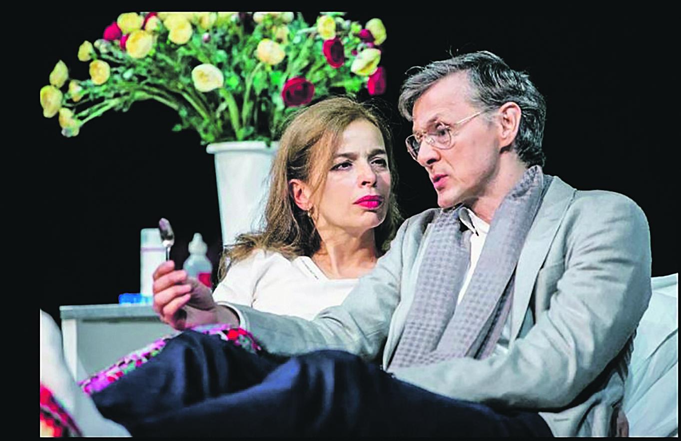 Alma Prica kao Eugenija, glumica na umoru, i Livio Badurina kao Igor, Ksenijin suprug