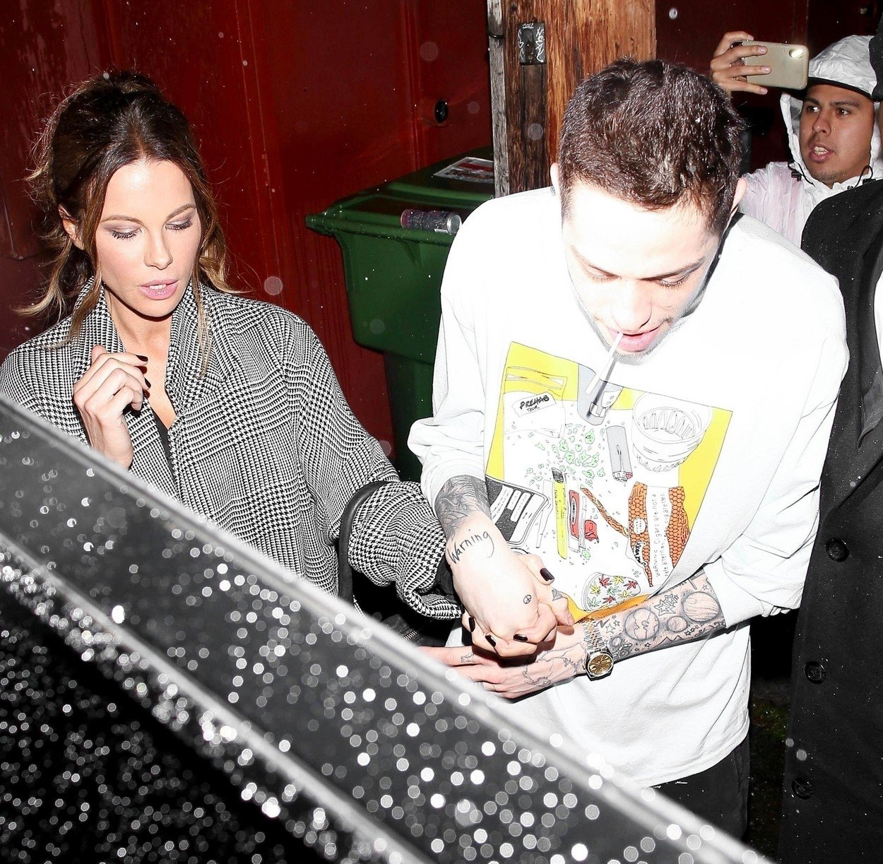 Los Angeles, CA  - Pete Davidson and Kate Beckinsale hold hands displaying confirm of the dating rumors while leaving his stand up show at Largo at the Coronet.  Pictured: Pete Davidson, Kate Beckinsale  BACKGRID USA 2 FEBRUARY 2019, Image: 411800007, License: Rights-managed, Restrictions: , Model Release: no, Credit line: Profimedia, Backgrid USA