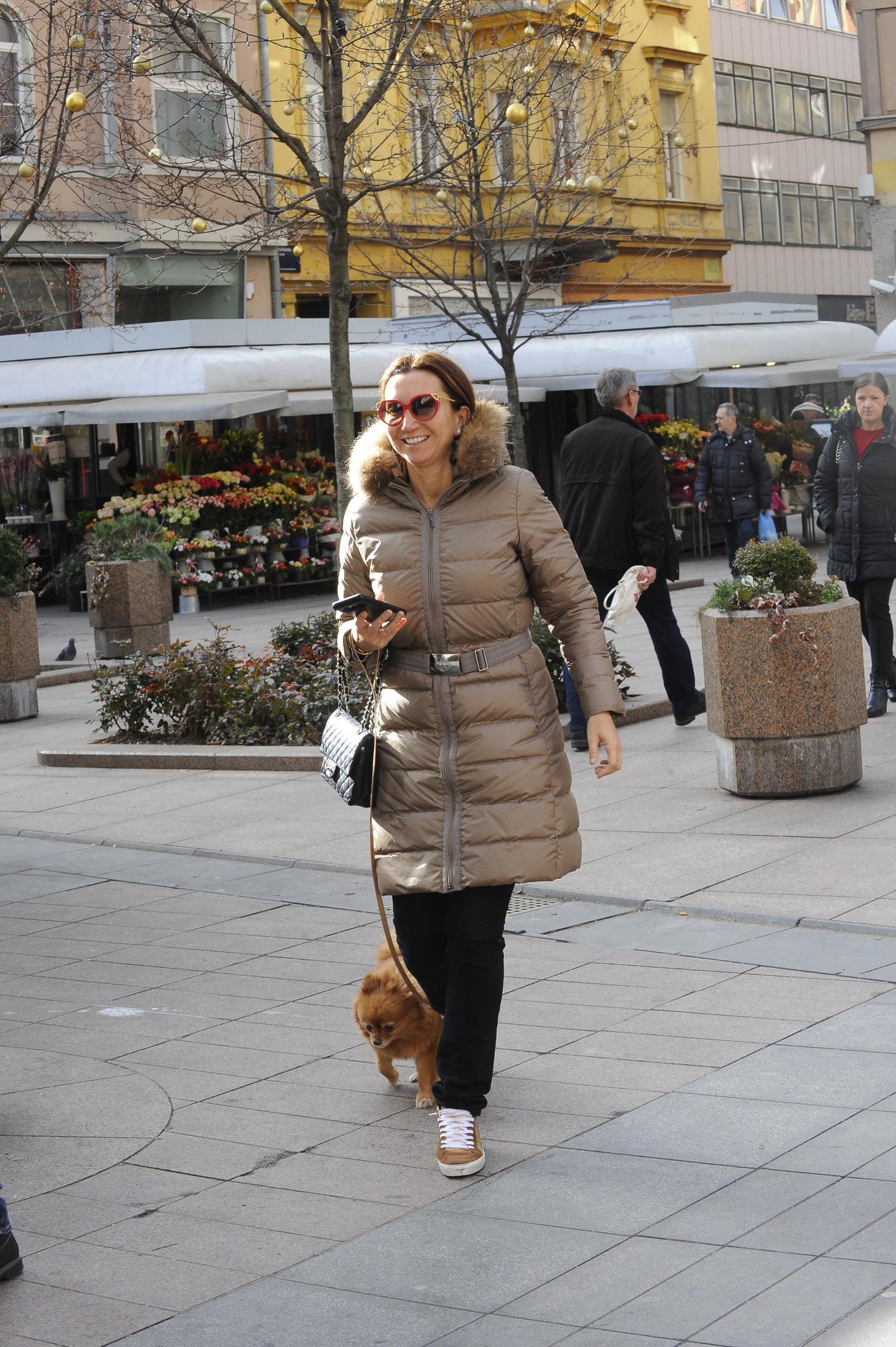 Spica / Zagreb 17.01.2019. / foto: Maja Jurovic / Iva Majoli i pas Lady