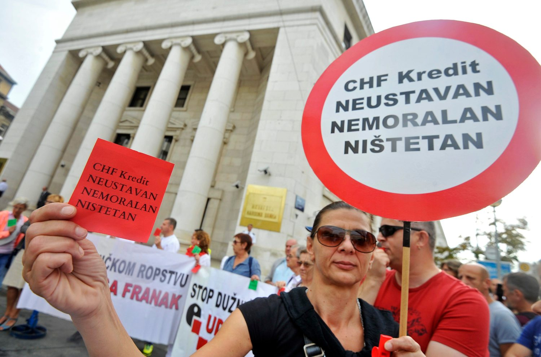 Prosvjedi zbog kredita u švicarskim francima