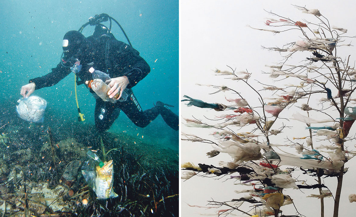 Onečišćenje plastikom, ilustracija