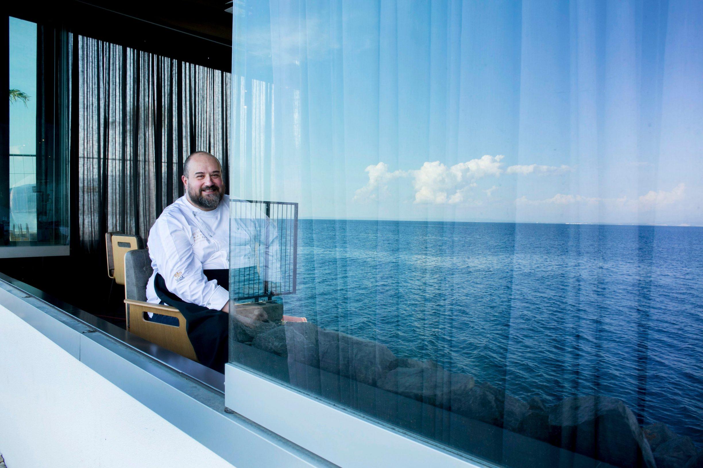 Opatija, 160615. Kuhinju modernog restorana i hotela Bevanda vodi kuhar Andrej Barbieri. Prezentirao je svoja autorska jela inspirirana morem s vrhunskim namirnicama. Foto: Berislava Picek / CROPIX