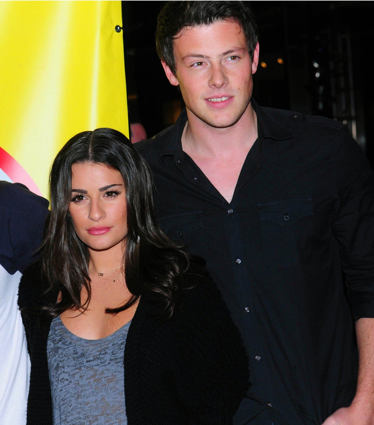 LEA MICHELE, COREY MONTEITH, MARK SALLING Signing copies of the soundtrack