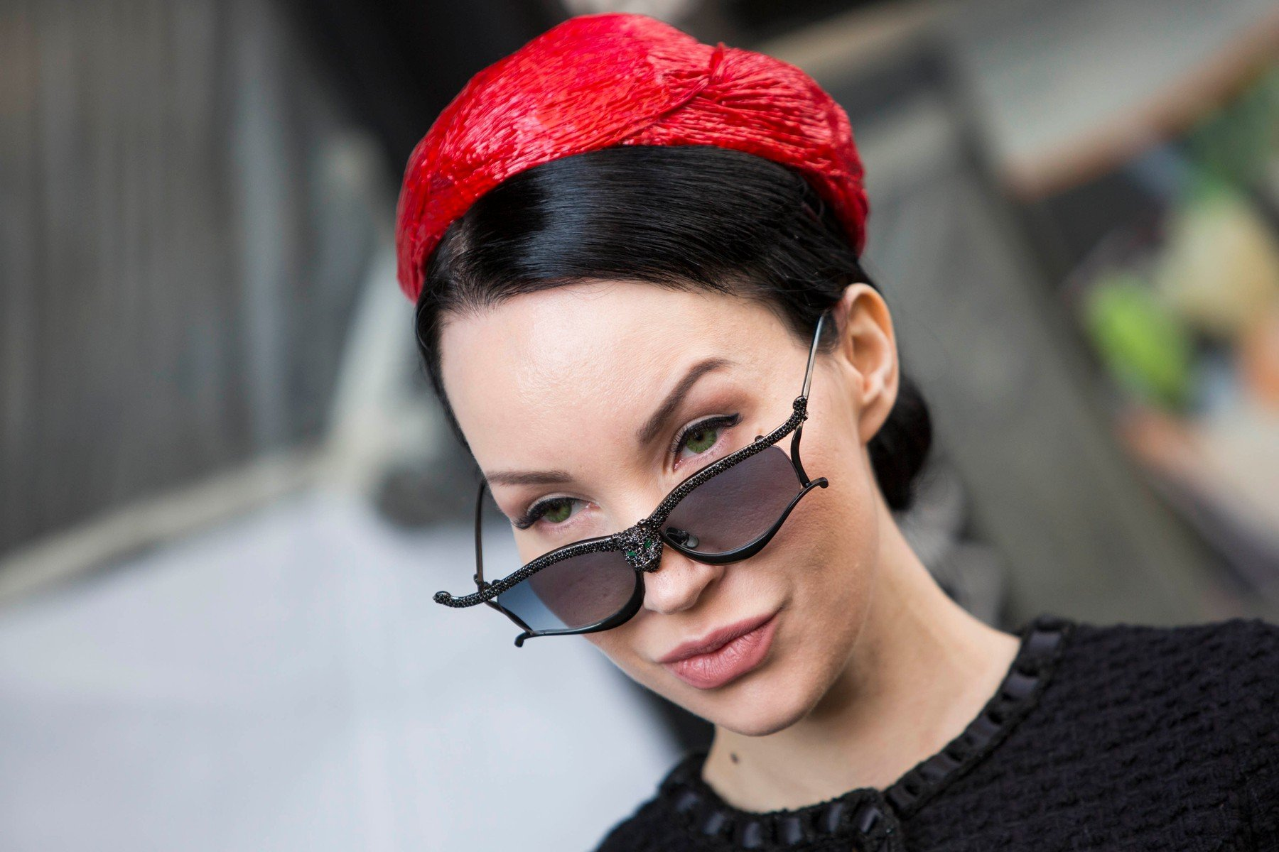 Fashion: street style at Milan Fashion Week 2019 outside of the Byblos show in Milan on February 20, 2019. 20 Feb 2019, Image: 414928776, License: Rights-managed, Restrictions: World Rights, Model Release: no, Credit line: Profimedia, Mega Agency