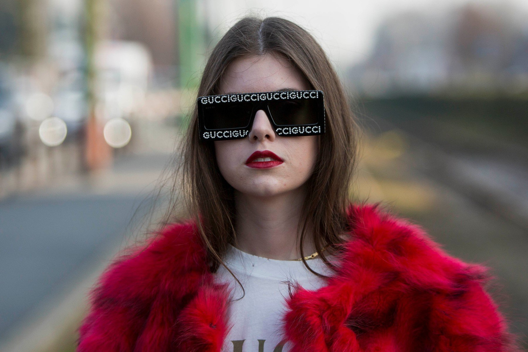 Fashion: street style at Milan Fashion Week 2019 outside of the Gucci show in Milan on February 20, 2019. 20 Feb 2019, Image: 415232667, License: Rights-managed, Restrictions: World Rights, Model Release: no, Credit line: Profimedia, Mega Agency