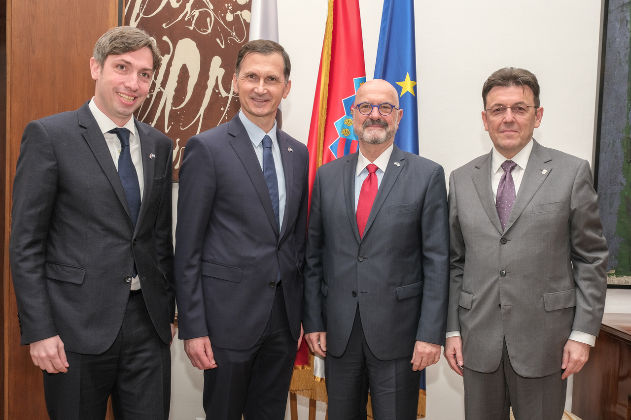 Saša Missoni, Dragan Primorac, Veleposlanik Ilan Moor i Luka Burilović