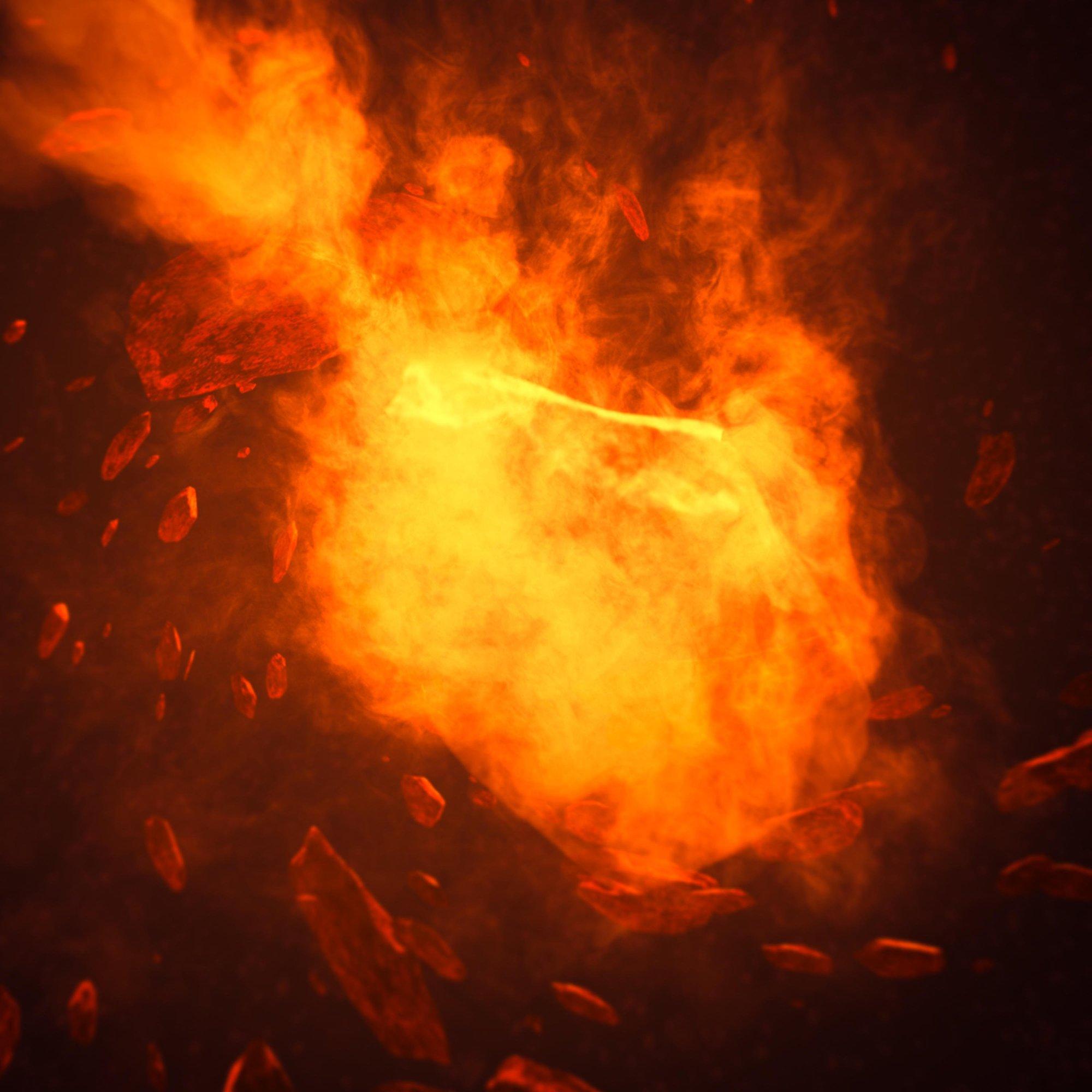 Eksplozija meteora, ilustracija