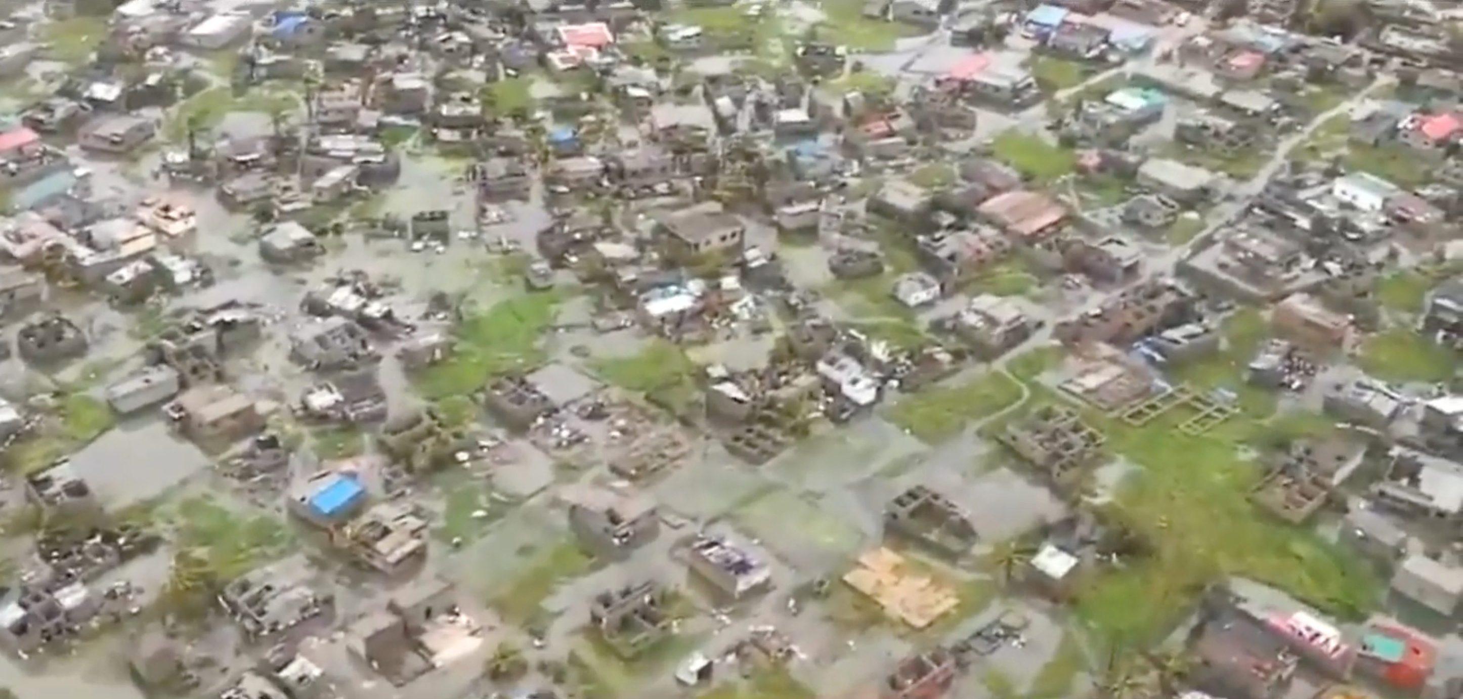 Helikopterska snimka poplave i štete nastale ciklonom u Beirai u Mozambiku