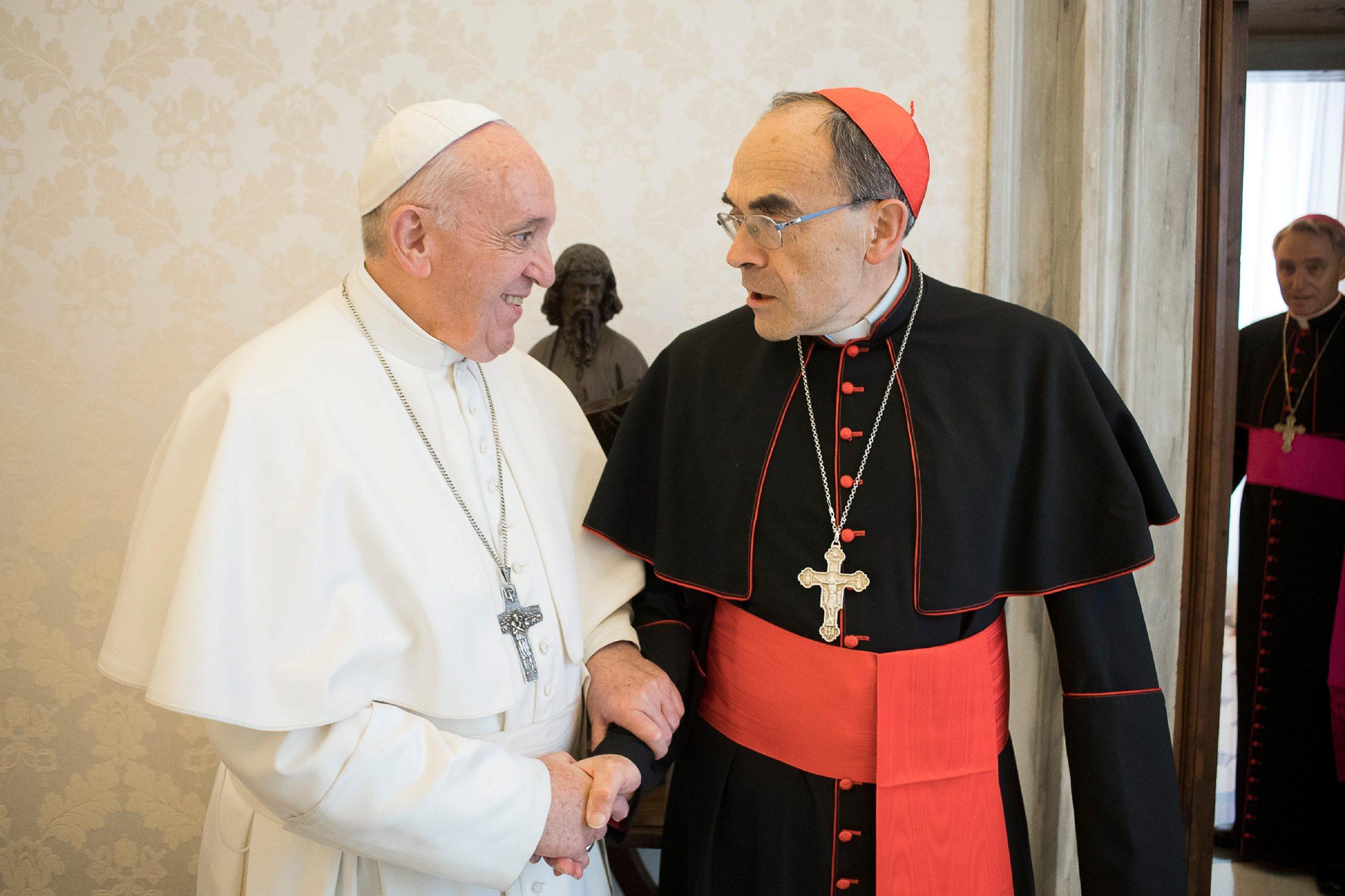 Papa Franjo i kardinal Philippe Barbarin