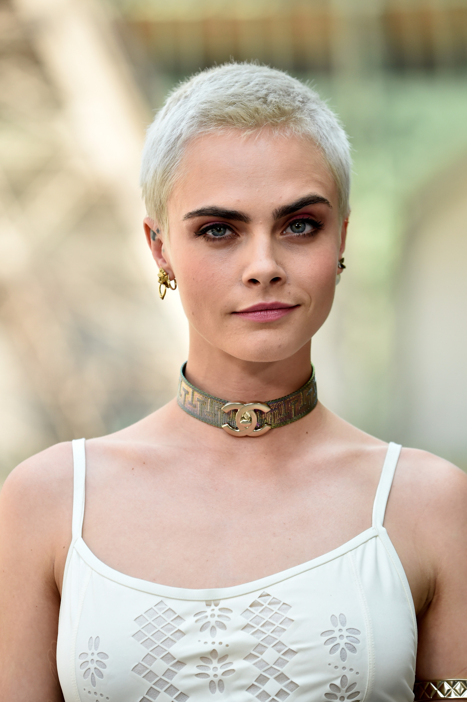 PARIS, FRANCE - JULY 04:  Cara Delevingne attends the Chanel Haute Couture Fall/Winter 2017-2018 show as part of Haute Couture Paris Fashion Week on July 4, 2017 in Paris, France.  (Photo by Pascal Le Segretain/Getty Images)