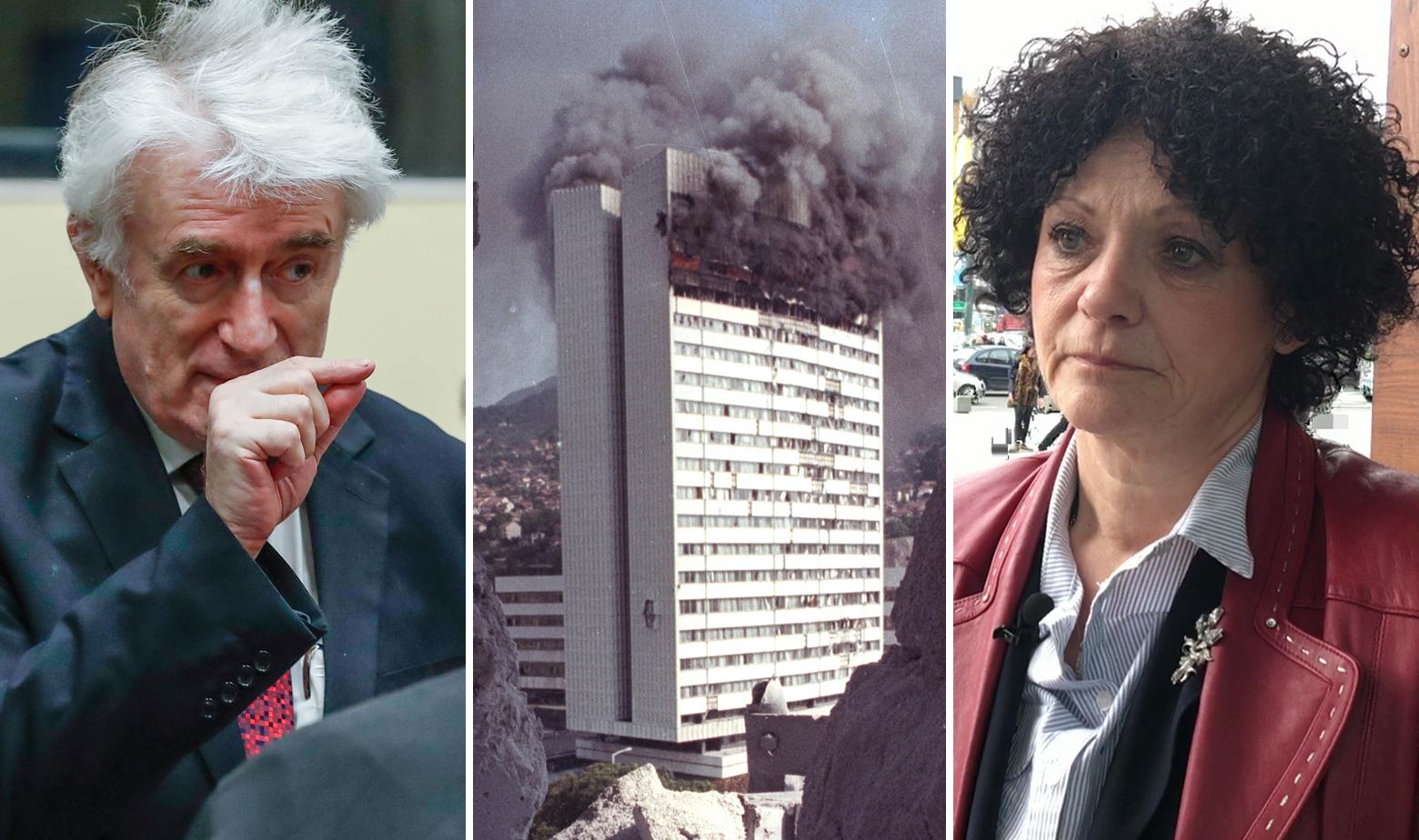 Radovan Karadžić, zgrada parlamenta BiH u plamenu i Sanija Dževlan