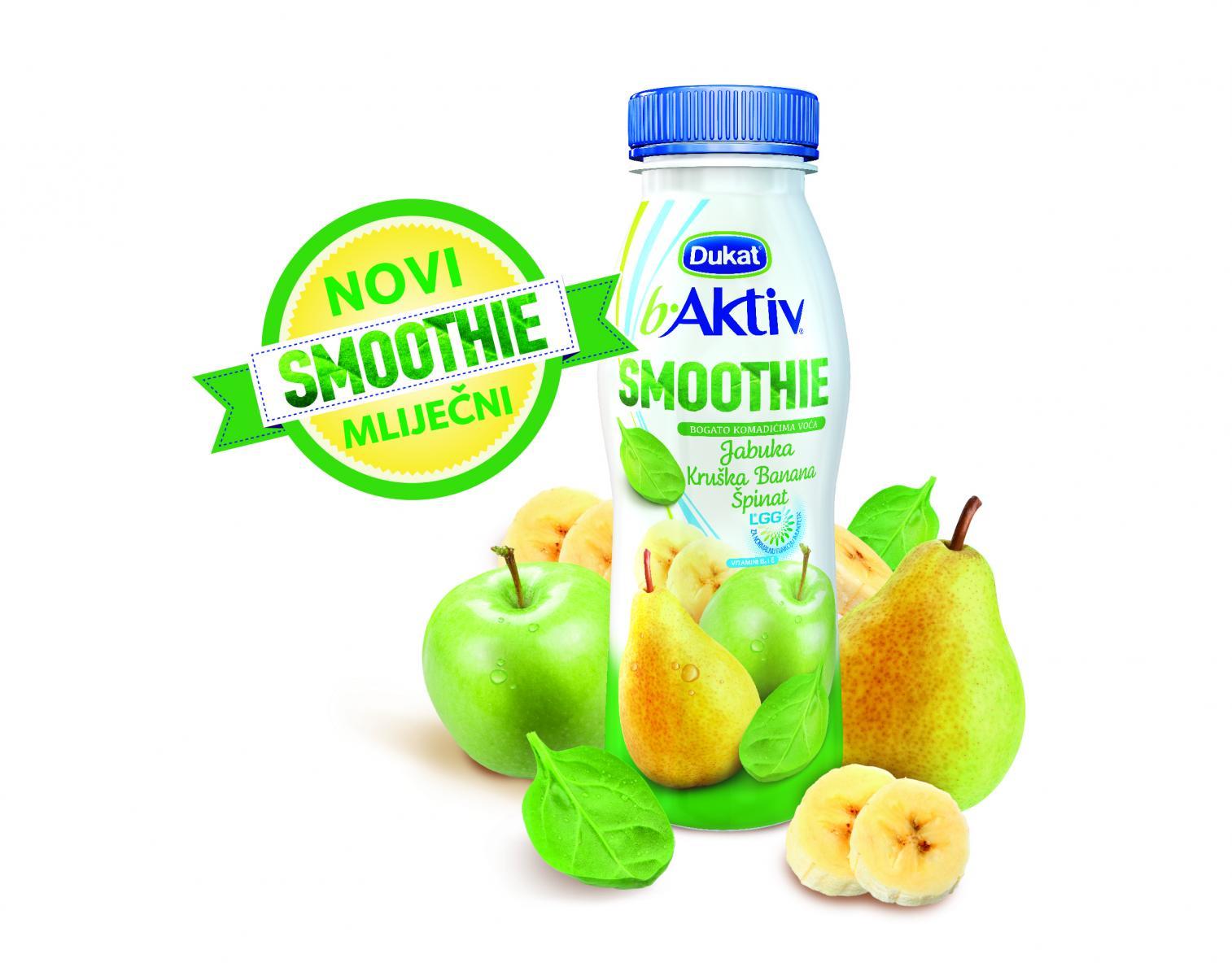 Kao svi smoothieji iz ove linije, i ovaj sadrži LGG® te vitamine B6 i E.