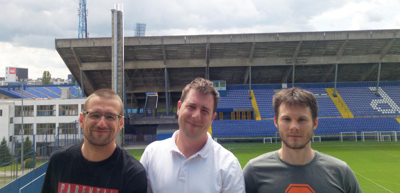 Natko Beck, Raphael Béné i Ivan Fabek iz Core Interfacea, proizvođača mobilne aplikacije TinnitusOFF.
