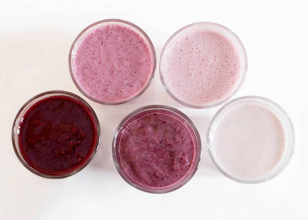 Ovako bi trebali izgledati slojevi prije nego ih spojite u jedan smoothie, i to ne bilo kakav, već ombre smoothie.