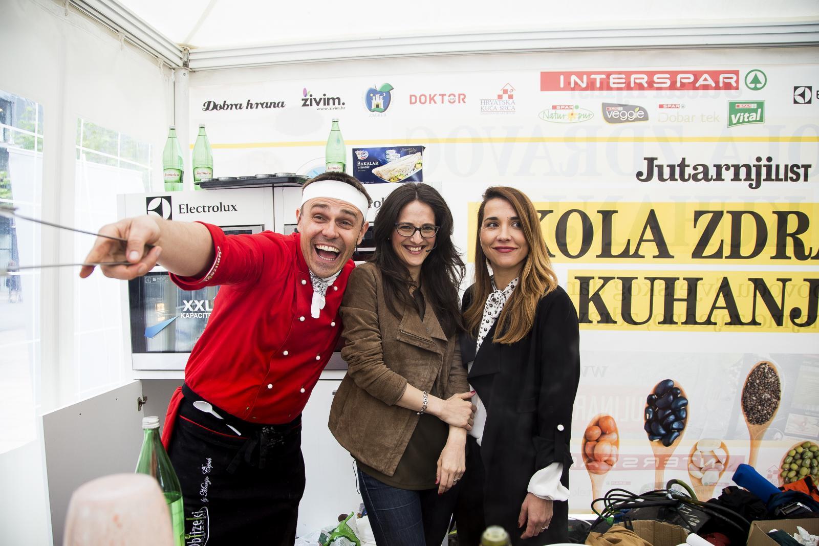 Za fine i zdrave zalogaje, korisne savjete i zabavnu atmosferu bili su zaduženi chef Mario Čepek, nutricionistica Karmen Matković Melki i voditeljica Marijana Batinić.