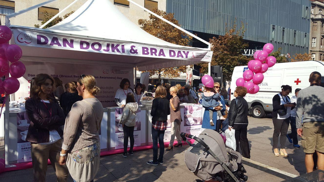 Dan dojki & Bra Day, obilježit će se u subotu, 30. rujna na zagrebačkom Cvjetnom trgu.