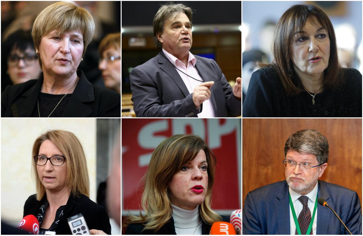 Ruža Tomašić, Ivan Jakovčić, Dubravka Šuica, Ivana Maletić, Biljana Borzan, Tonino Picula