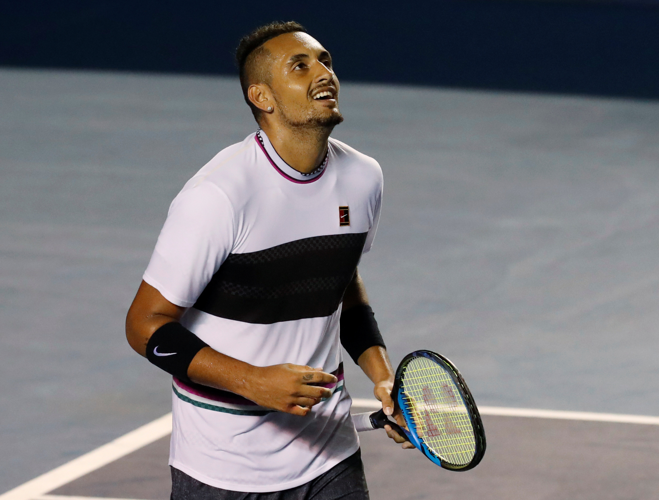 Tennis - ATP 500 - Acapulco Open, Acapulco, Mexico - March 2, 2019    Australias Nick Kyrgios celebrates winning his semi final match against John Isner of the U.S.    REUTERS/Henry Romero - RC1C2F7B4120