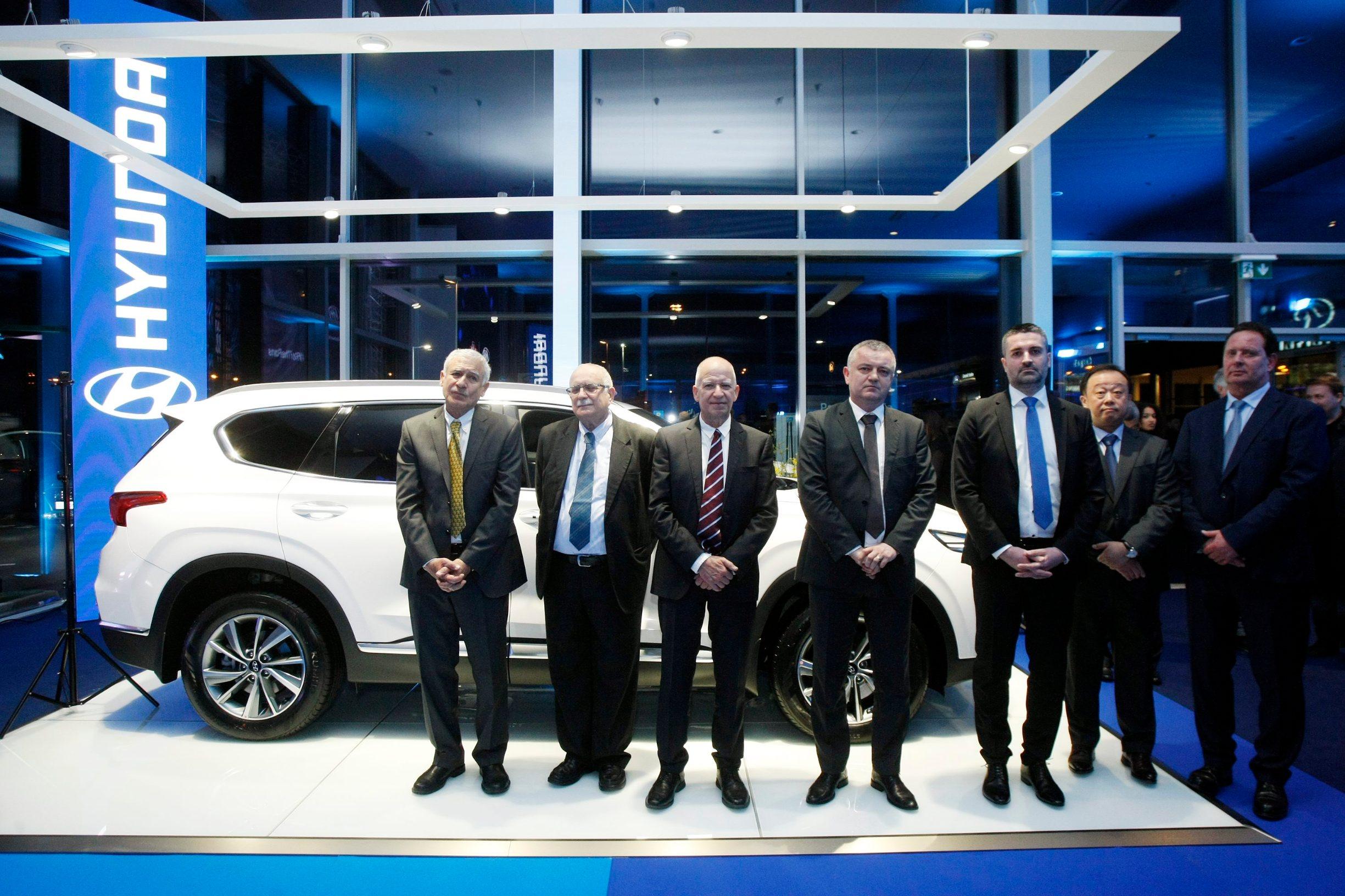 Svečano otvorenje novog Hyundai salona, Zviku Livnat, Darko Horvat, Lovro Živković, Dongwoo Choi, Thomas Schmid