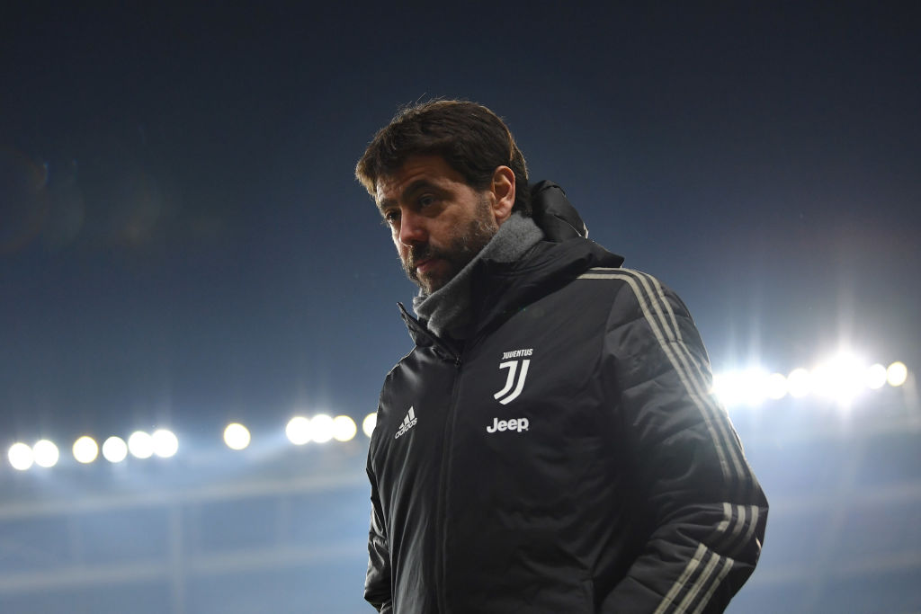 TURIN, ITALY - DECEMBER 15:  Juventus president Andrea Agnelli looks on during the Serie A match between Torino FC and Juventus at Stadio Olimpico di Torino on December 15, 2018 in Turin, Italy.  (Photo by Valerio Pennicino/Getty Images)