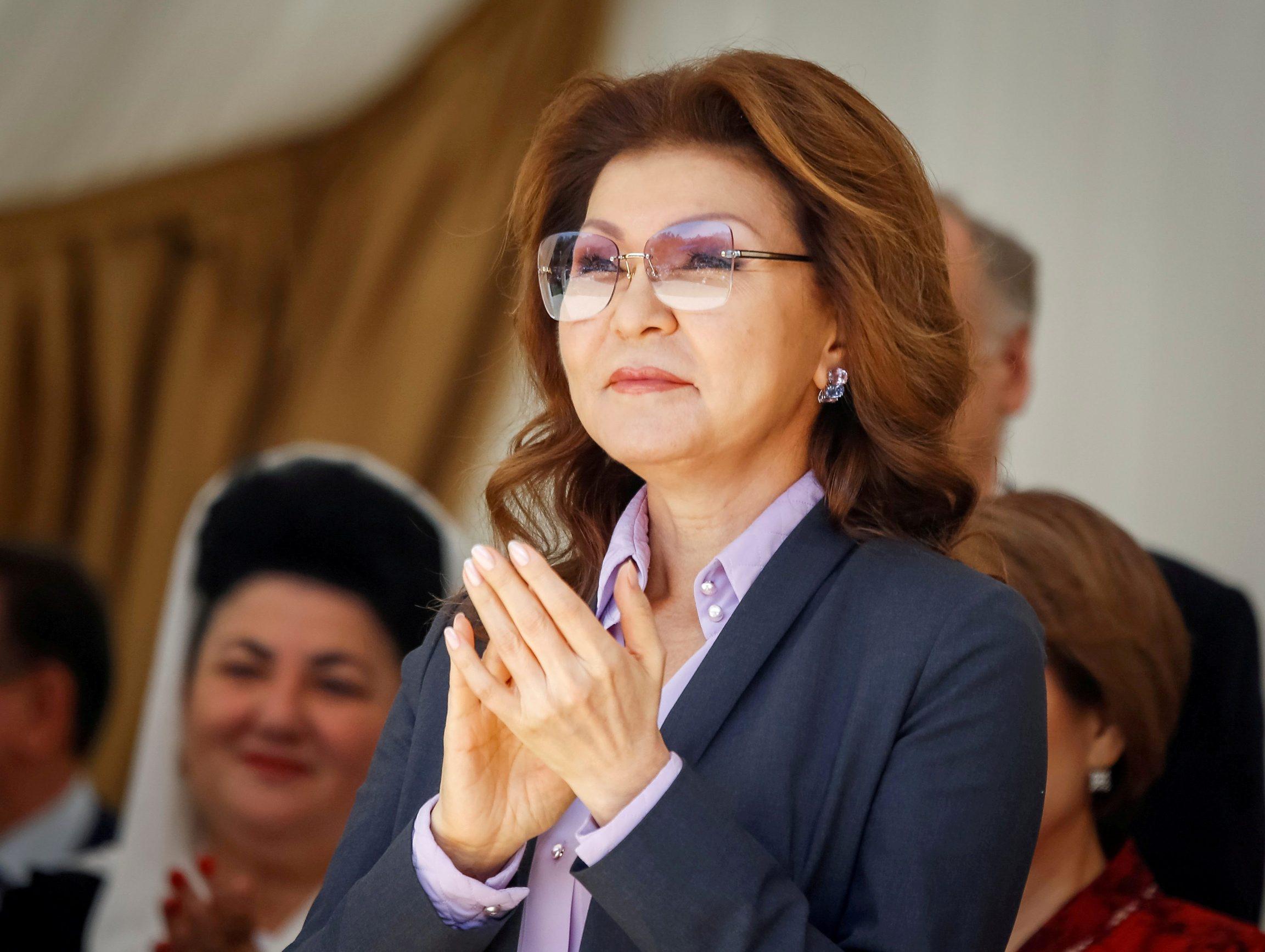 FILE PHOTO: Dariga Nazarbayeva, daughter of Kazakhstan's President Nursultan Nazarbayev and the country's Deputy Prime Minister, attends celebrations to mark Kazakhstan People's Unity Day in Almaty, Kazakhstan May 1, 2016. REUTERS/Shamil Zhumatov/File Photo