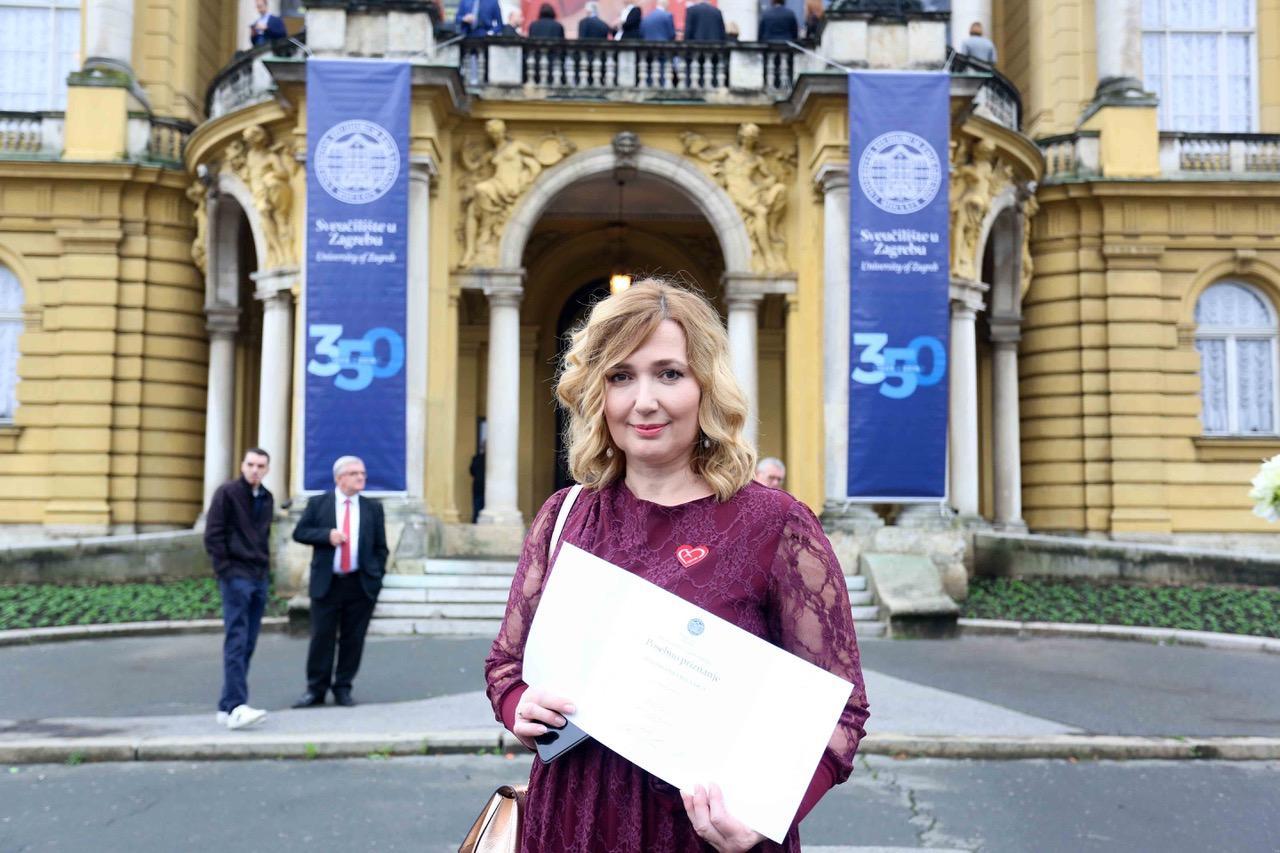 Nagradu Sveučilišta  primila je doktorica Portolan Pajić.