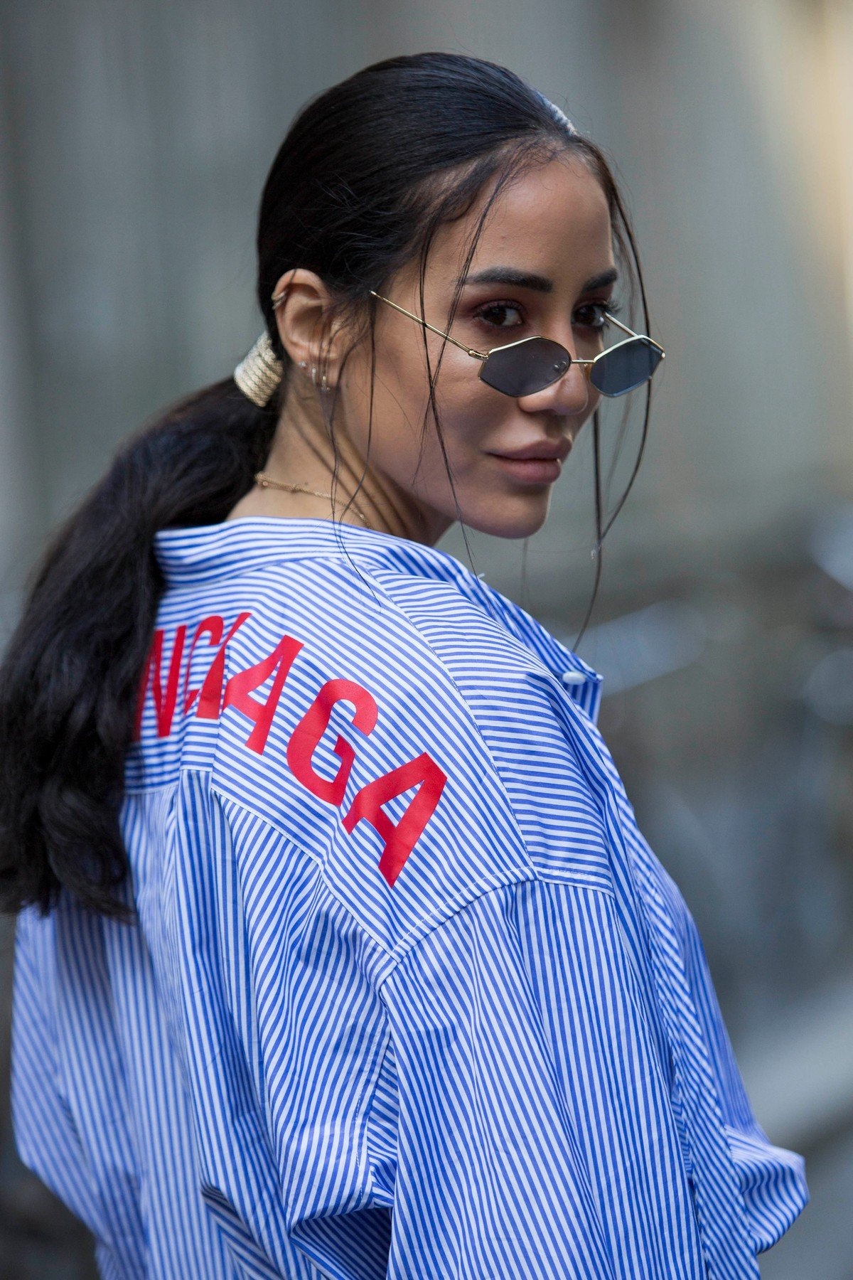 Fashion: street style at Milan Fashion Week 2019 outside of the Blumarine show in Milan on February 22, 2019. 22 Feb 2019, Image: 416153670, License: Rights-managed, Restrictions: World Rights, Model Release: no, Credit line: Profimedia, Mega Agency