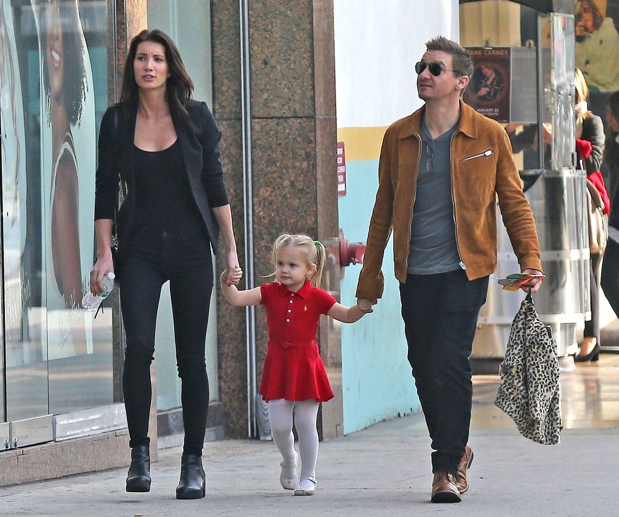 Exclusive... 52258498 Actor Jeremy Renner and his ex-wife Sonni Pacheco reunite to take their daughter Ava to a Christmas play in Hollywood, California on December 14, 2016. The pair who split last year stepped out together for the first time since Sonni was awarded ,000 a month in child support after claiming that Jeremy had fallen behind on his payments., Image: 308435641, License: Rights-managed, Restrictions: , Model Release: no, Credit line: Profimedia, Backgrid USA.