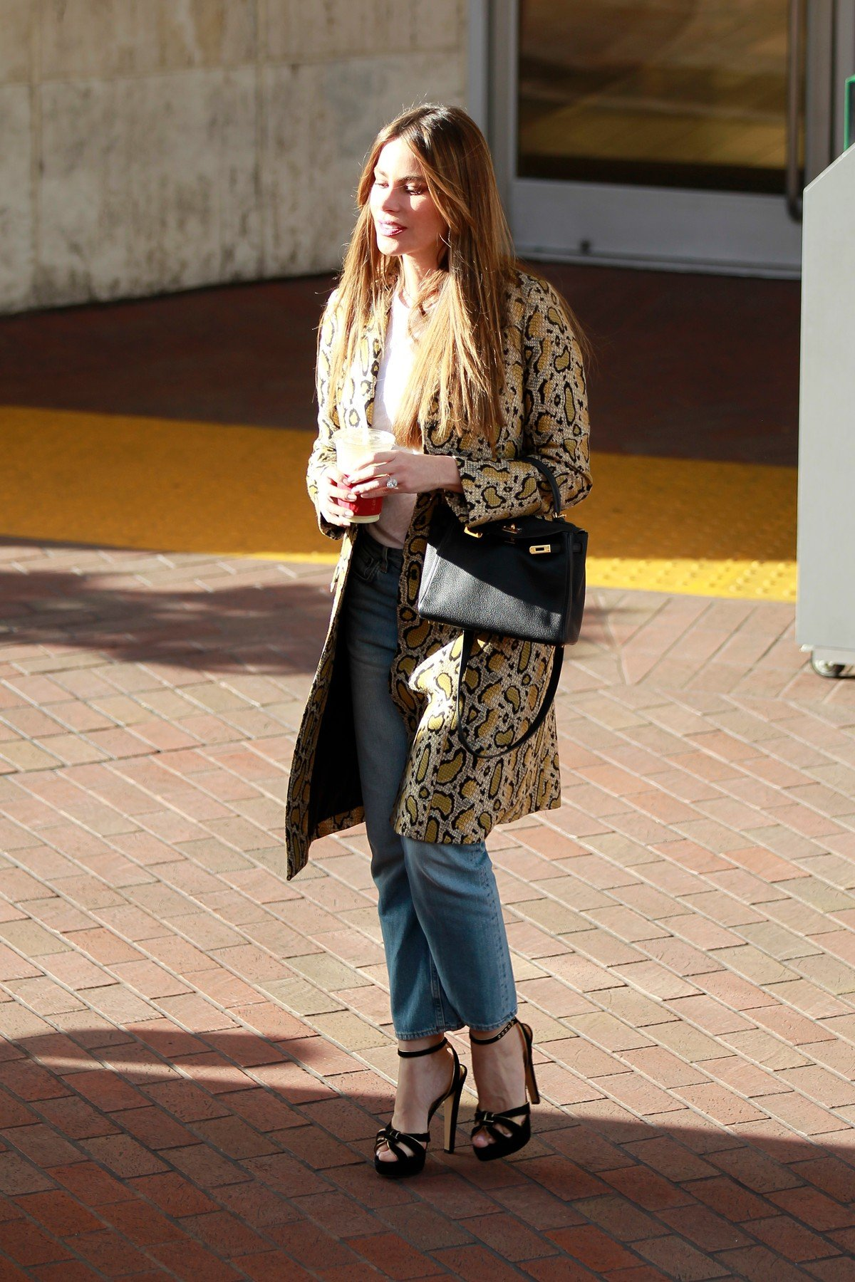 FIA EXCLU! Sofia Vergara looks elegant and chic as she pairs blue denim with t-shirt and leopard-print trench coat while shopping in Beverly Hills 03/26/19!, Image: 422445071, License: Rights-managed, Restrictions: , Model Release: no, Credit line: Profimedia, FIA
