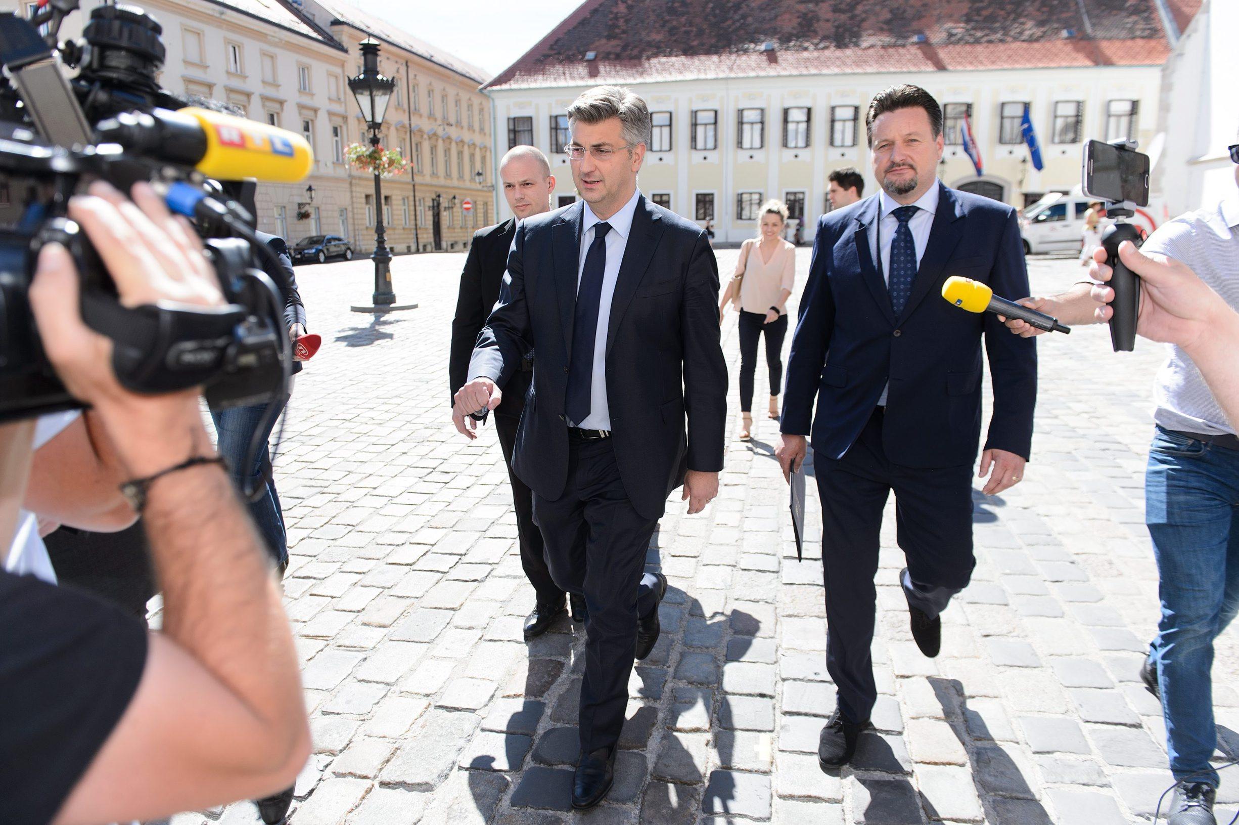 Andrej Plenković i Lovro Kuščević