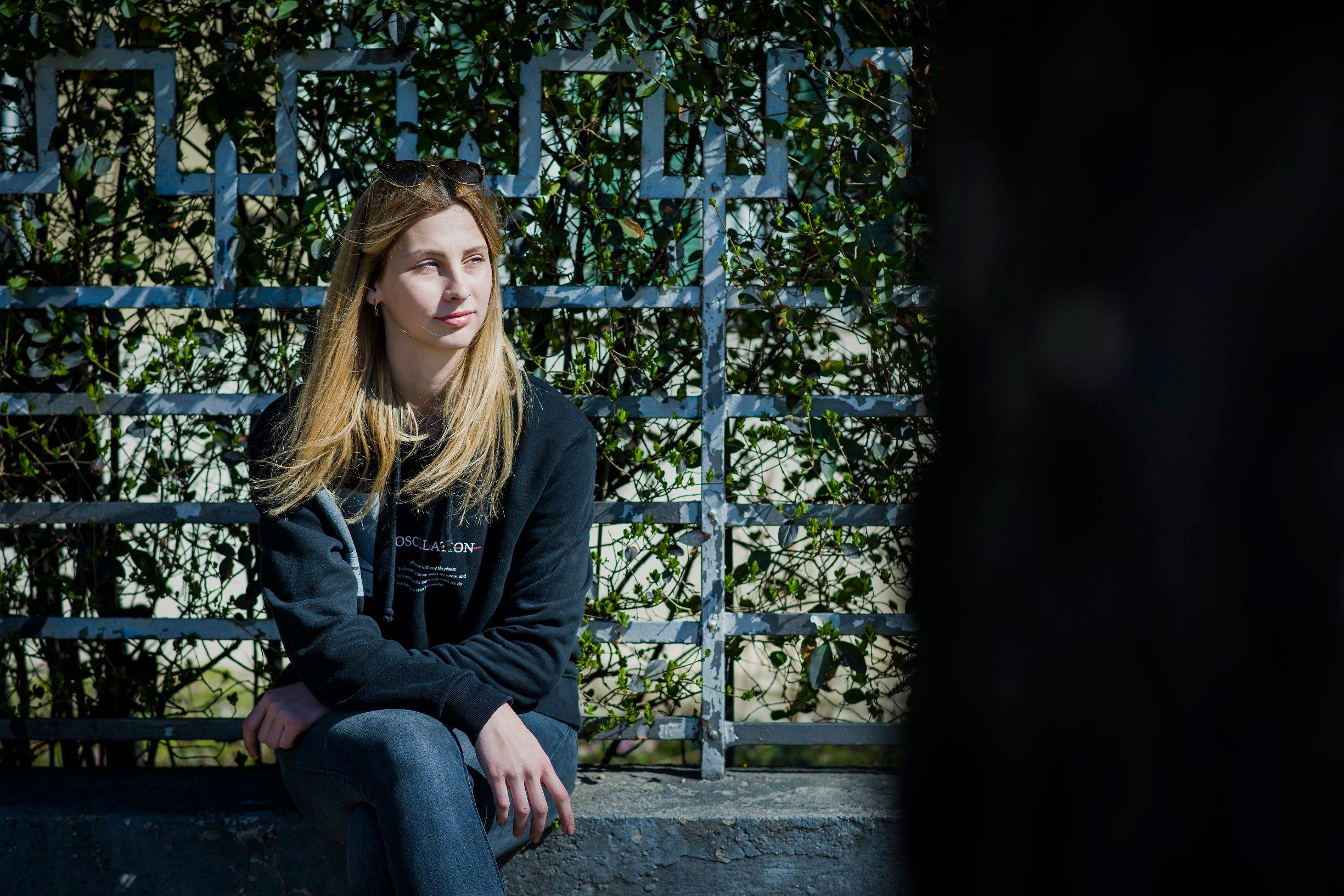 Zagreb, 140319. Laura Skala, 17-godisnja organizatorica prosvjeda srednjoskolaca : Globalni strajk ucenika za klimu. Foto: Neja Markicevic / CROPIX