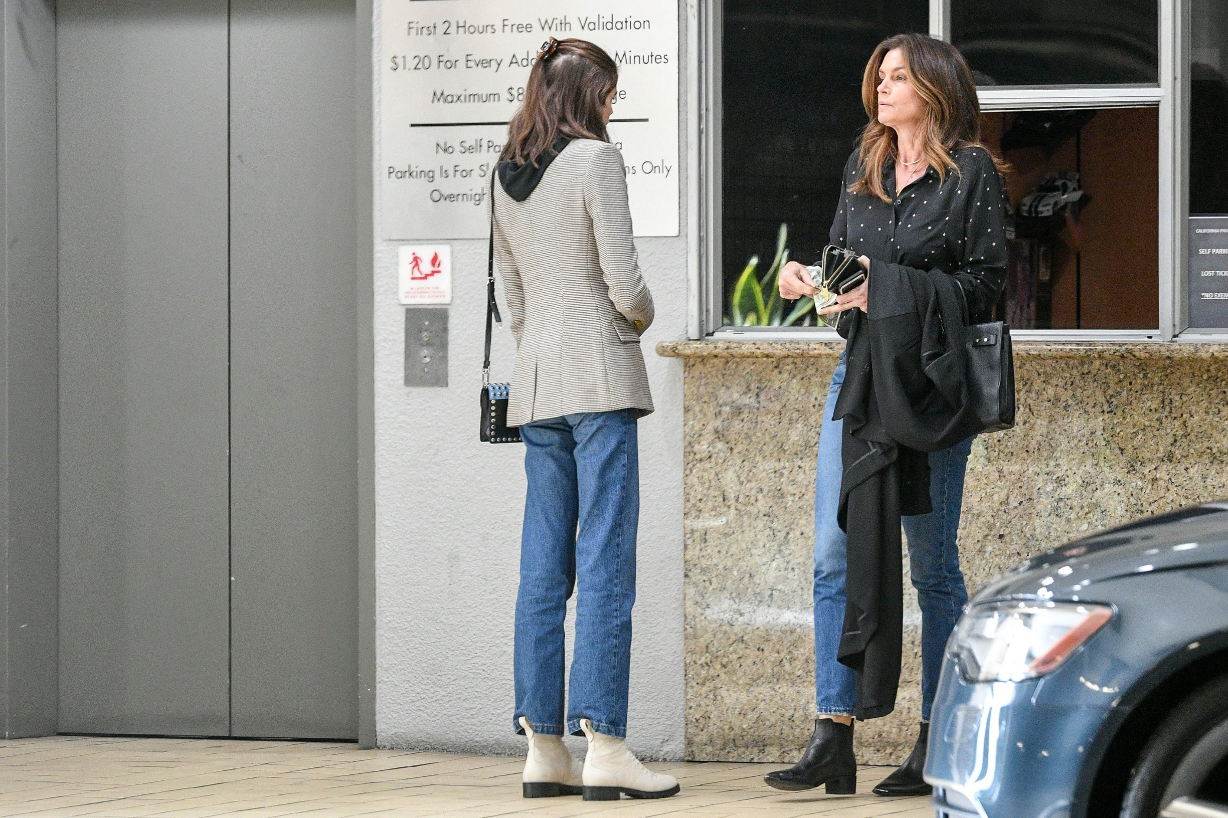 Cindy Crawford and Kaia Gerber Look Like Sisters Leaving Business Meeting. 05 Feb 2019, Image: 412238023, License: Rights-managed, Restrictions: World Rights, Model Release: no, Credit line: Profimedia, Mega Agency