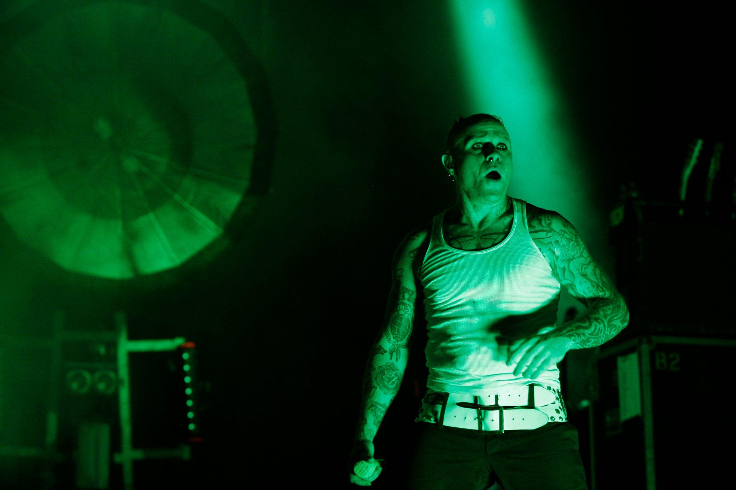 Keith Flint na koncertu grupe The Prodigy 2016. u Zadru