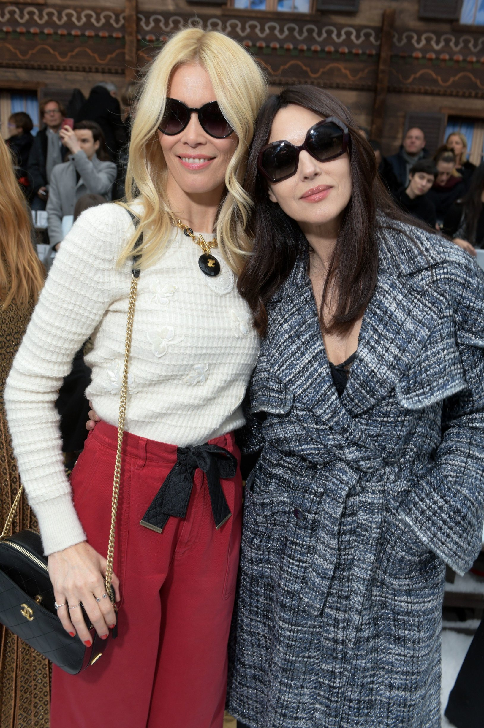 Claudia Schiffer and Monica Bellucci in the front row Chanel show, Front Row, Fall Winter 2019, Paris Fashion Week, France - 05 Mar 2019, Image: 417334057, License: Rights-managed, Restrictions: , Model Release: no, Credit line: Profimedia, TEMP Rex Features